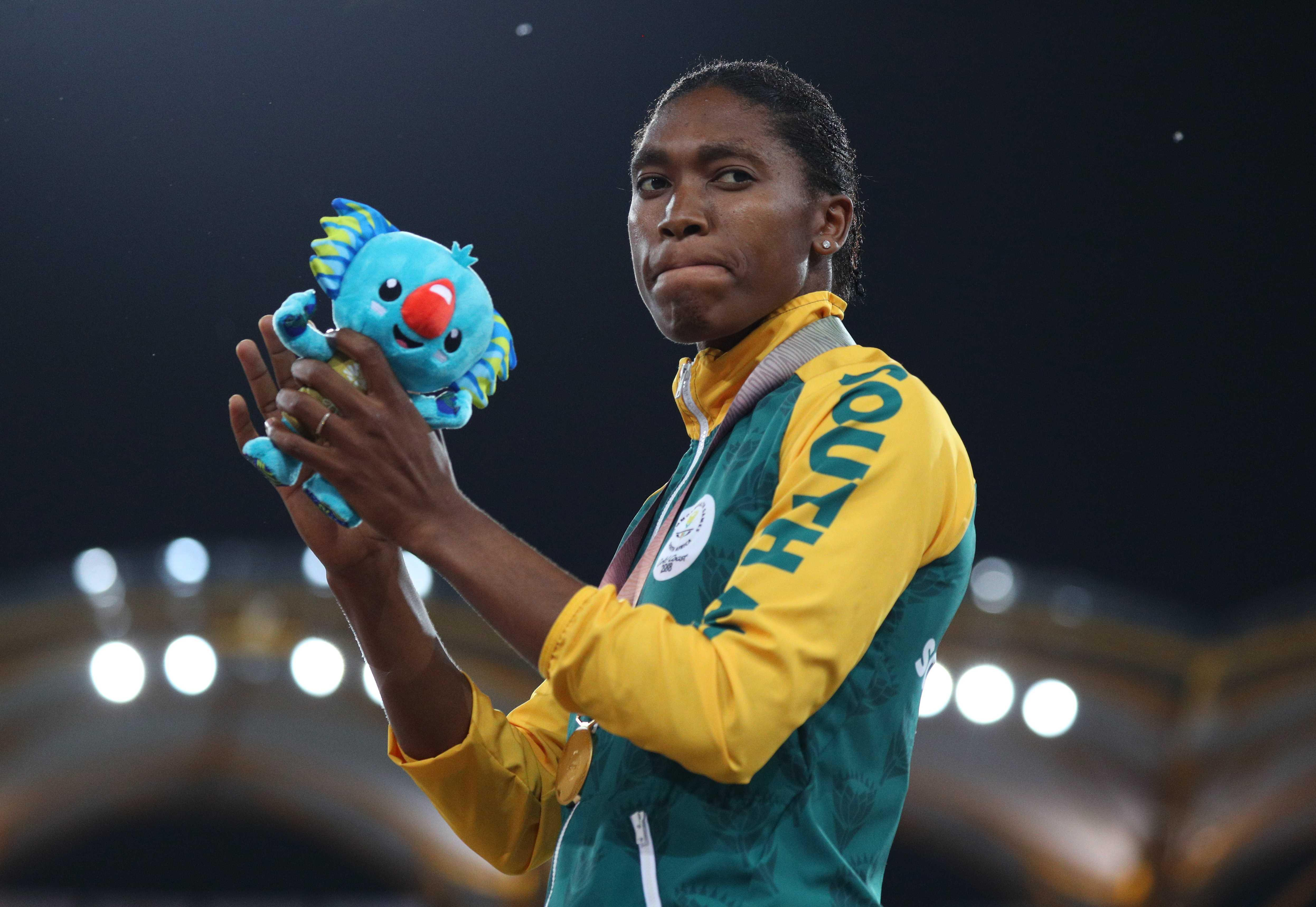 Semenya won Commonwealth 800m and 1500m gold at this month's championships in Gold Coast