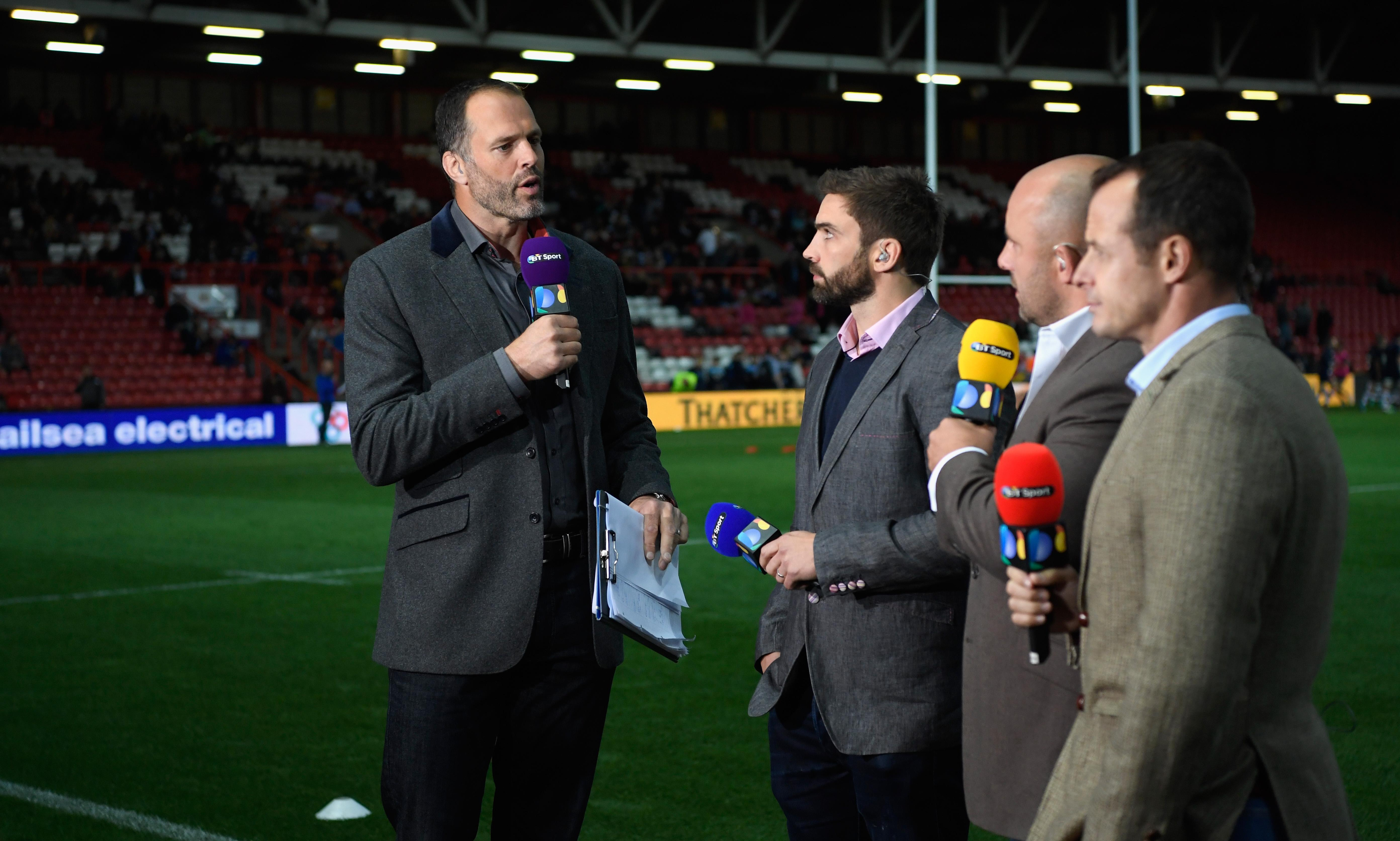 Iconic Martin Bayfield stands at a huge 6ft 10ins tall