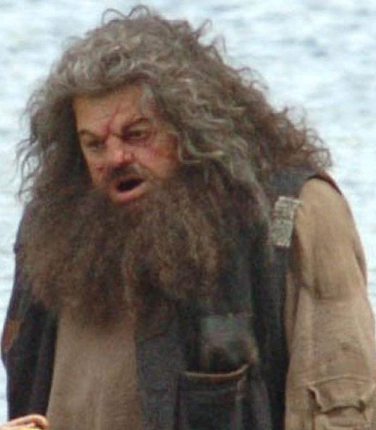 Bayfield went on to be Robbie Coltrane's body double for his Hagrid character in Harry Potter