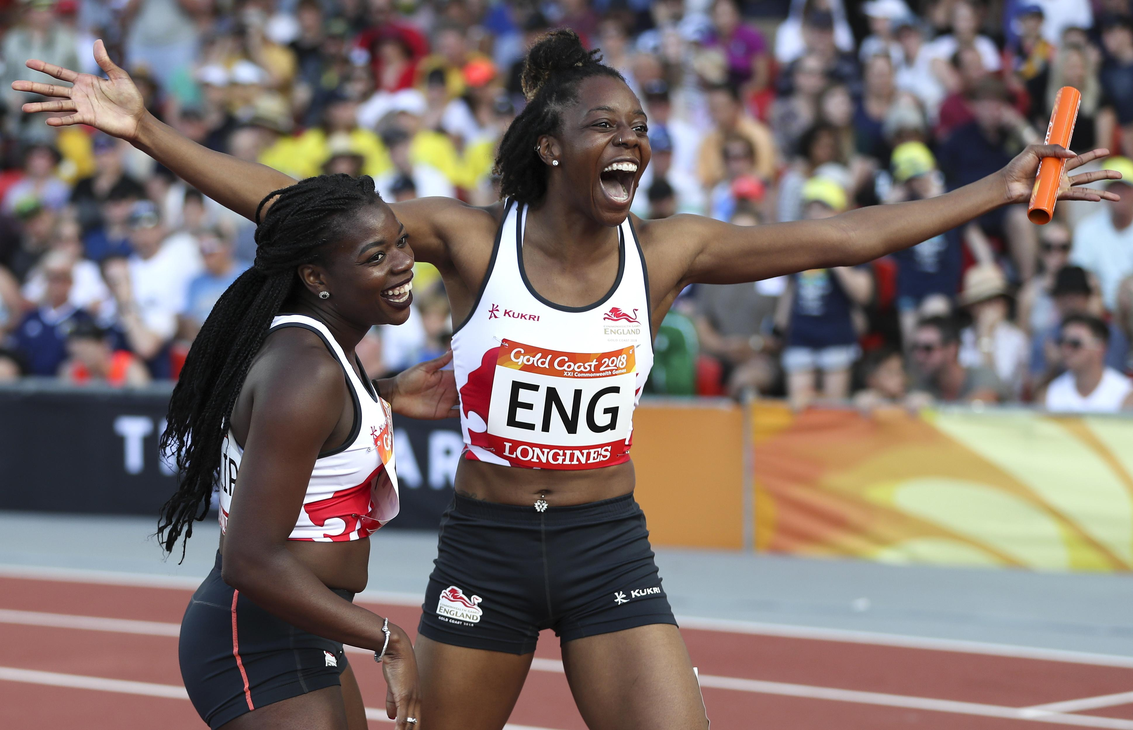 Lorraine Ugen held her nerve and her form as she brought the England quartet home for gold in the 4x100m relay