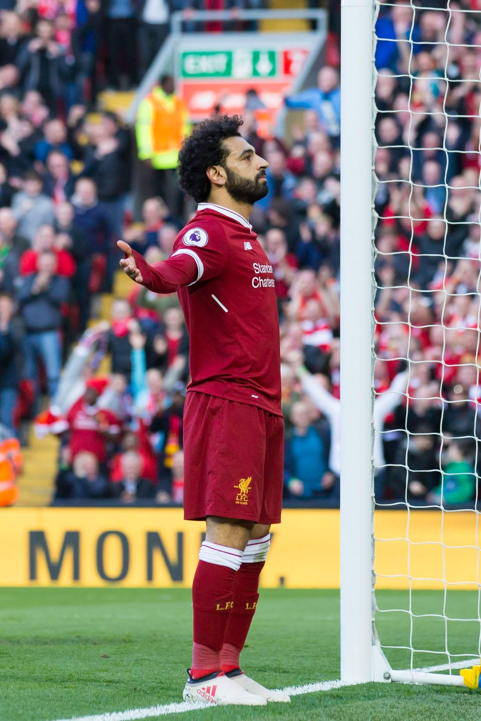 Mo Salah reached the 40-goal mark for Liverpool against Bournemouth