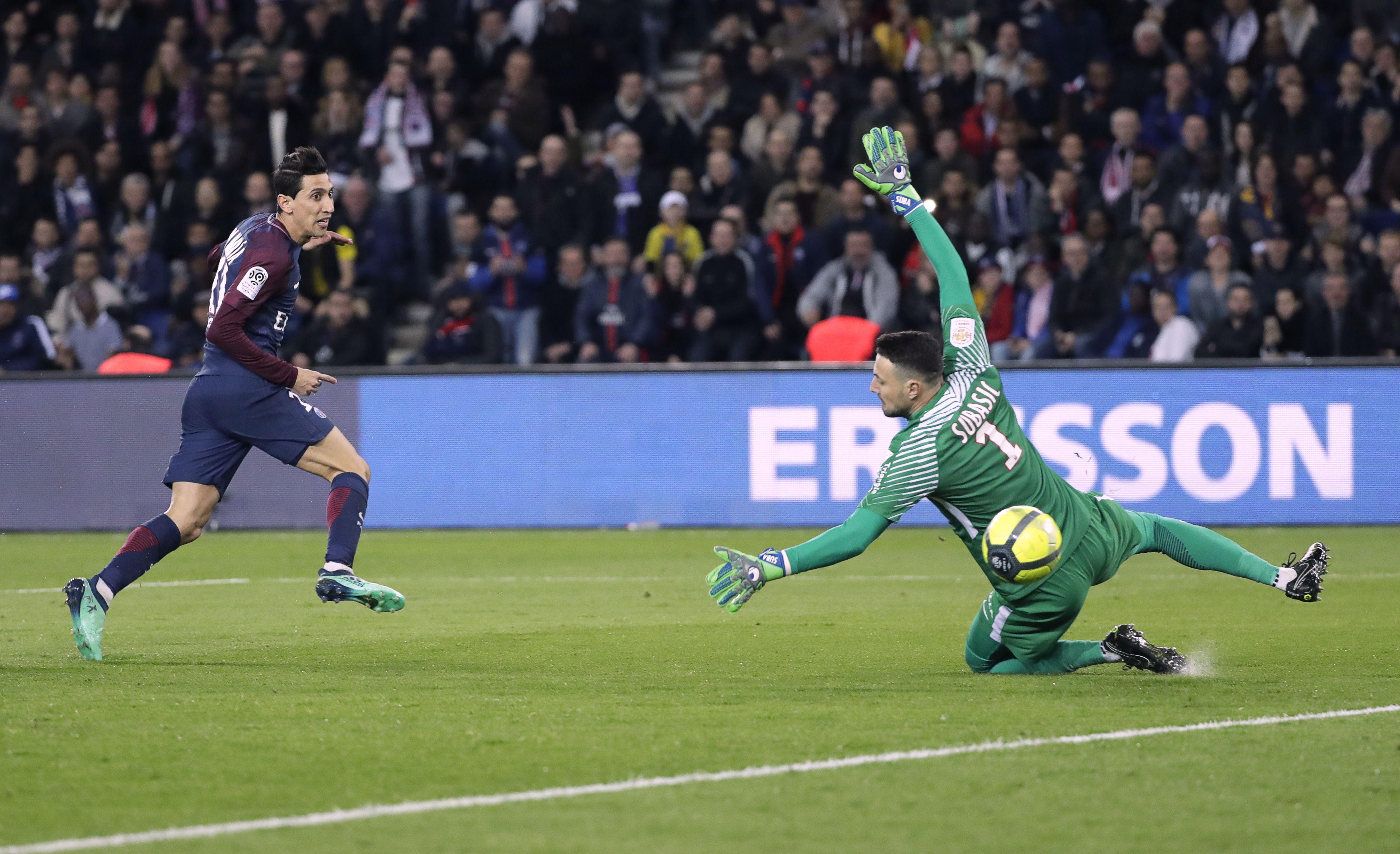 Angel Di Maria had a fine game for PSG and scored two goals