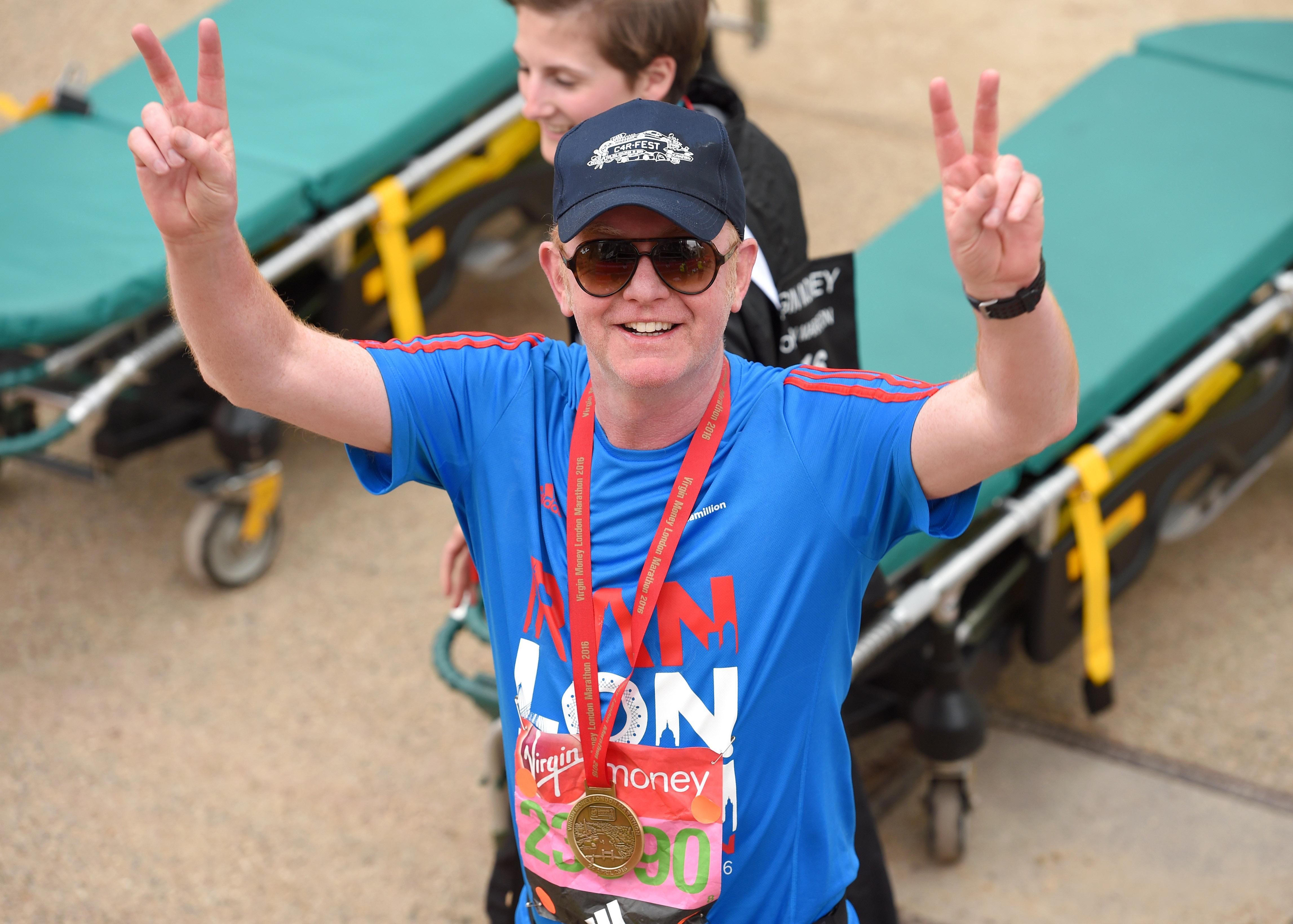 Radio 2 presenter Chris Evans is running his fourth London Marathon on behalf of Children in Need