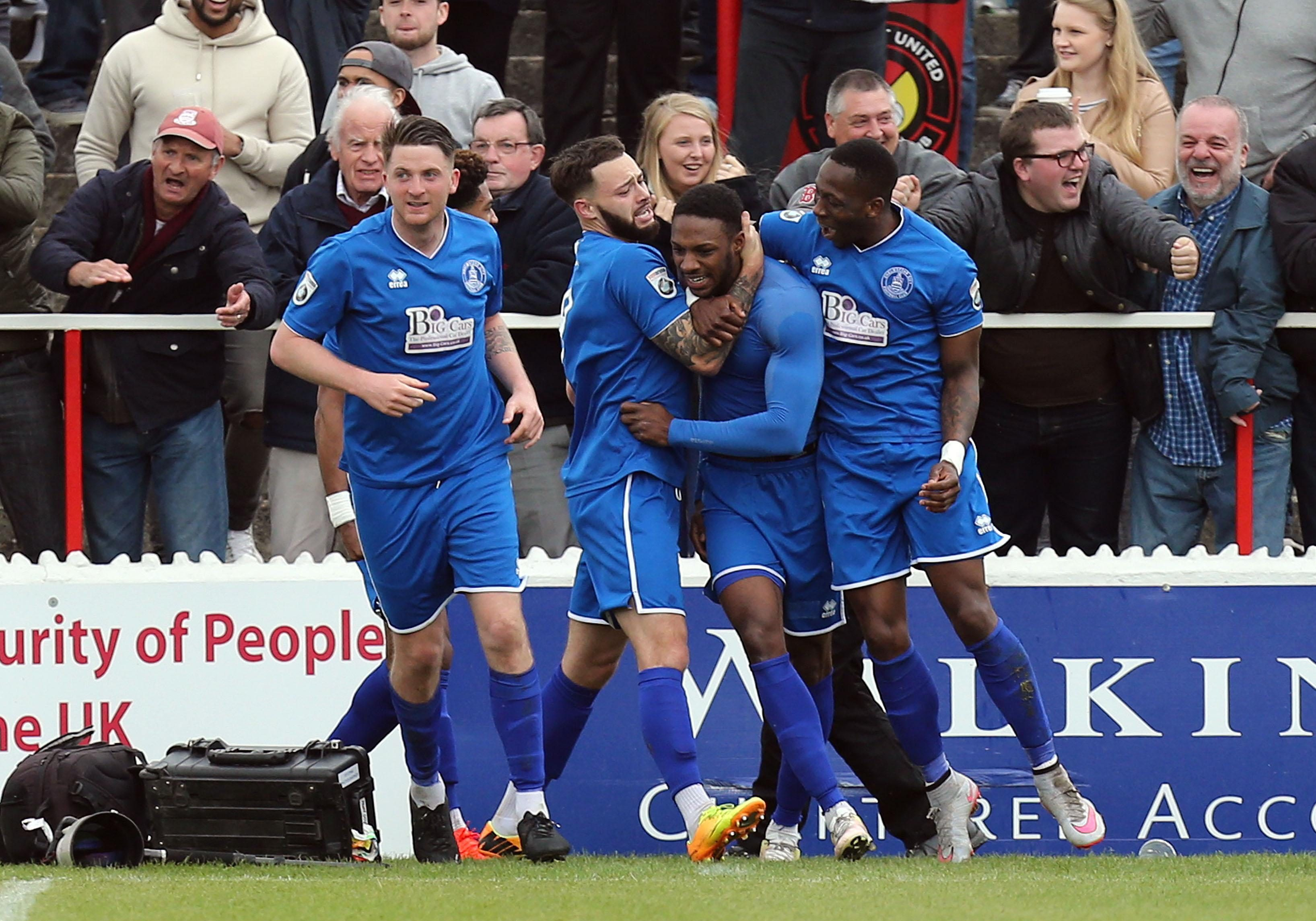 Bagasan Graham, centre, netted for the home side as they beat Wealdstone 3-0