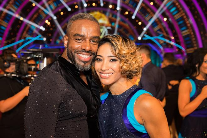Karen was paired with Charles Venn for the 2018 series