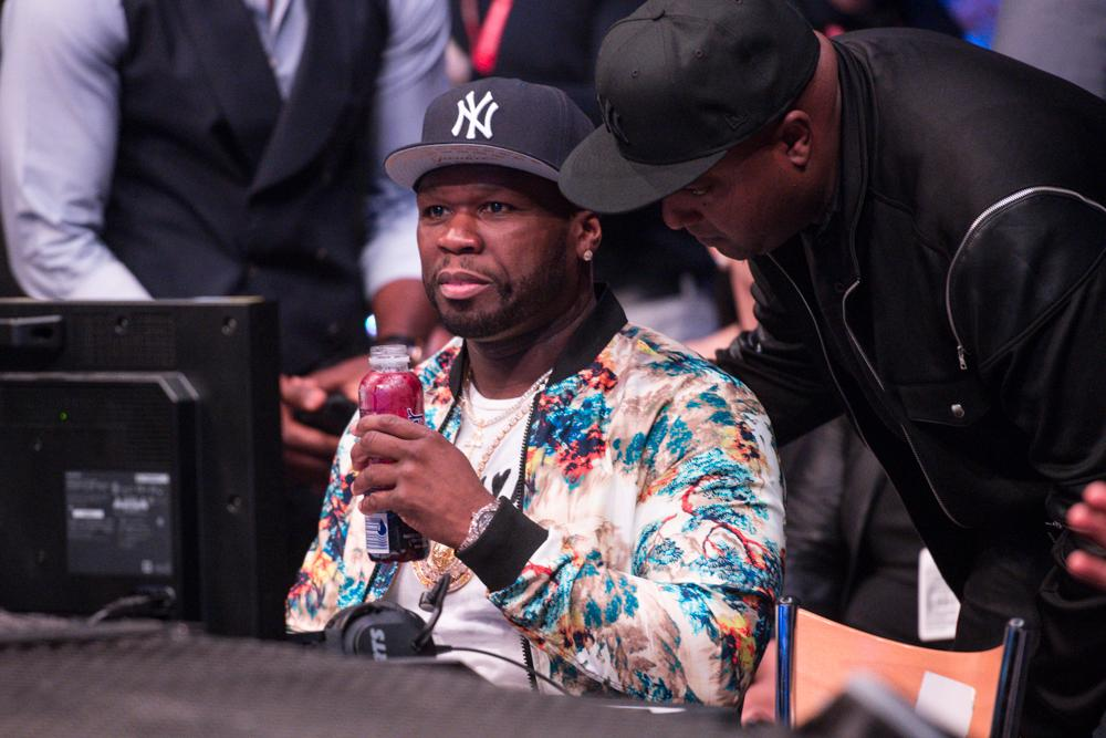 Rapper 50 Cent made his appearance at the SSE Wembley Arena