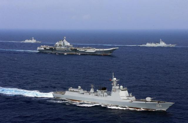 China has been busy building up power in the region in a bid to oust the dominance of the US Navy