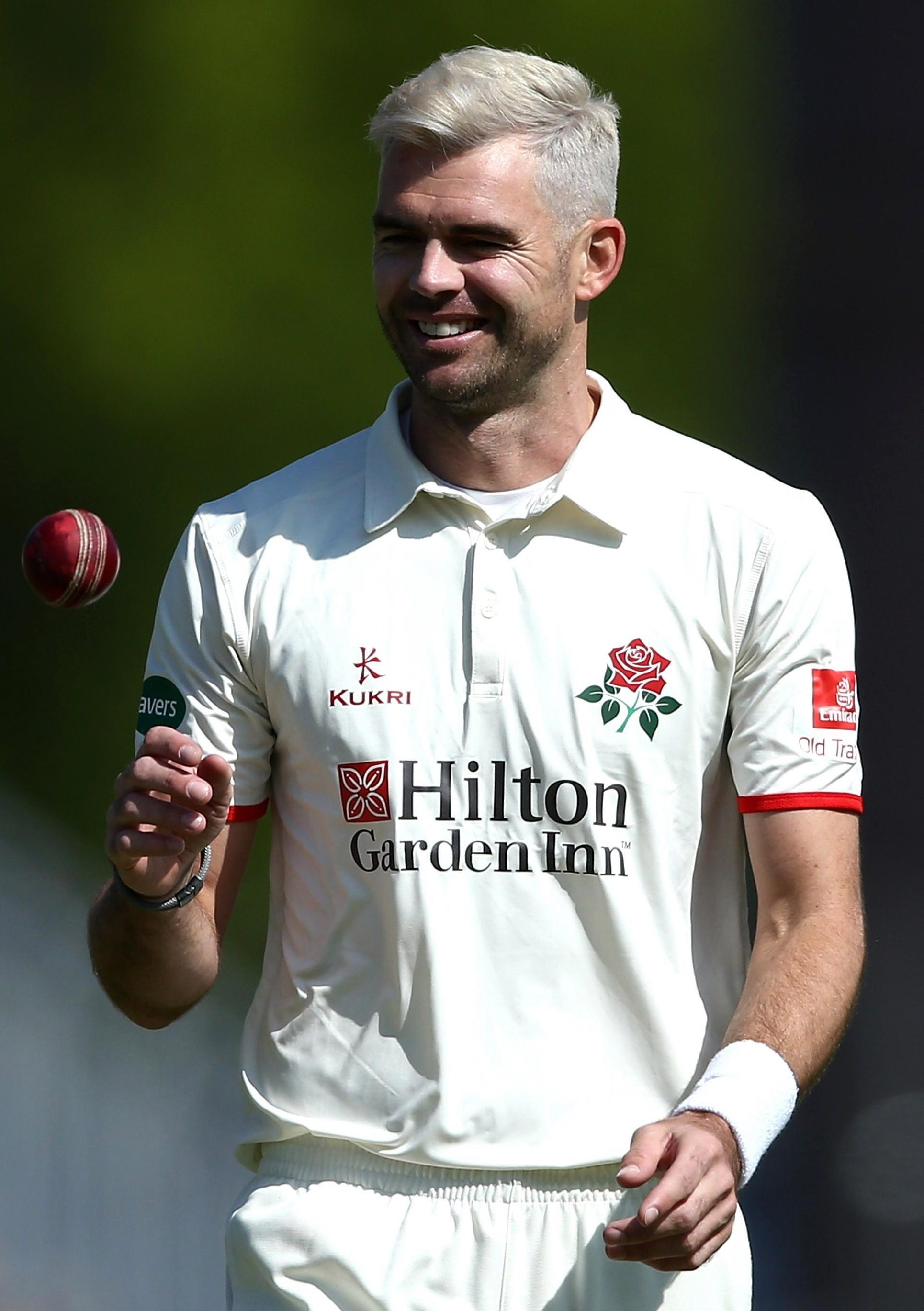James Anderson has ditched the peroxide blond hair and jokes that, at the age of 35, his mid-life crisis is over - for now