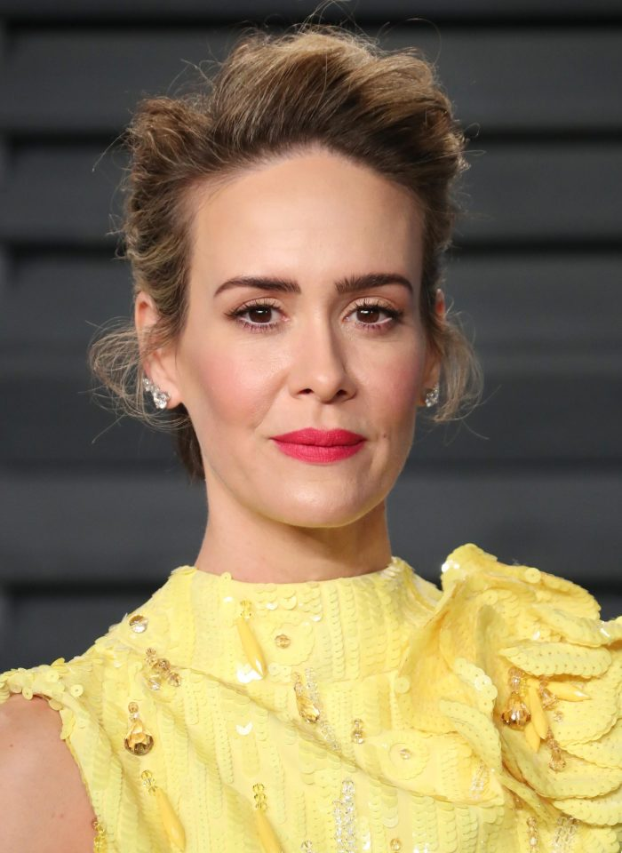 Sarah Paulson at the Vanity Fair Oscar party 2018