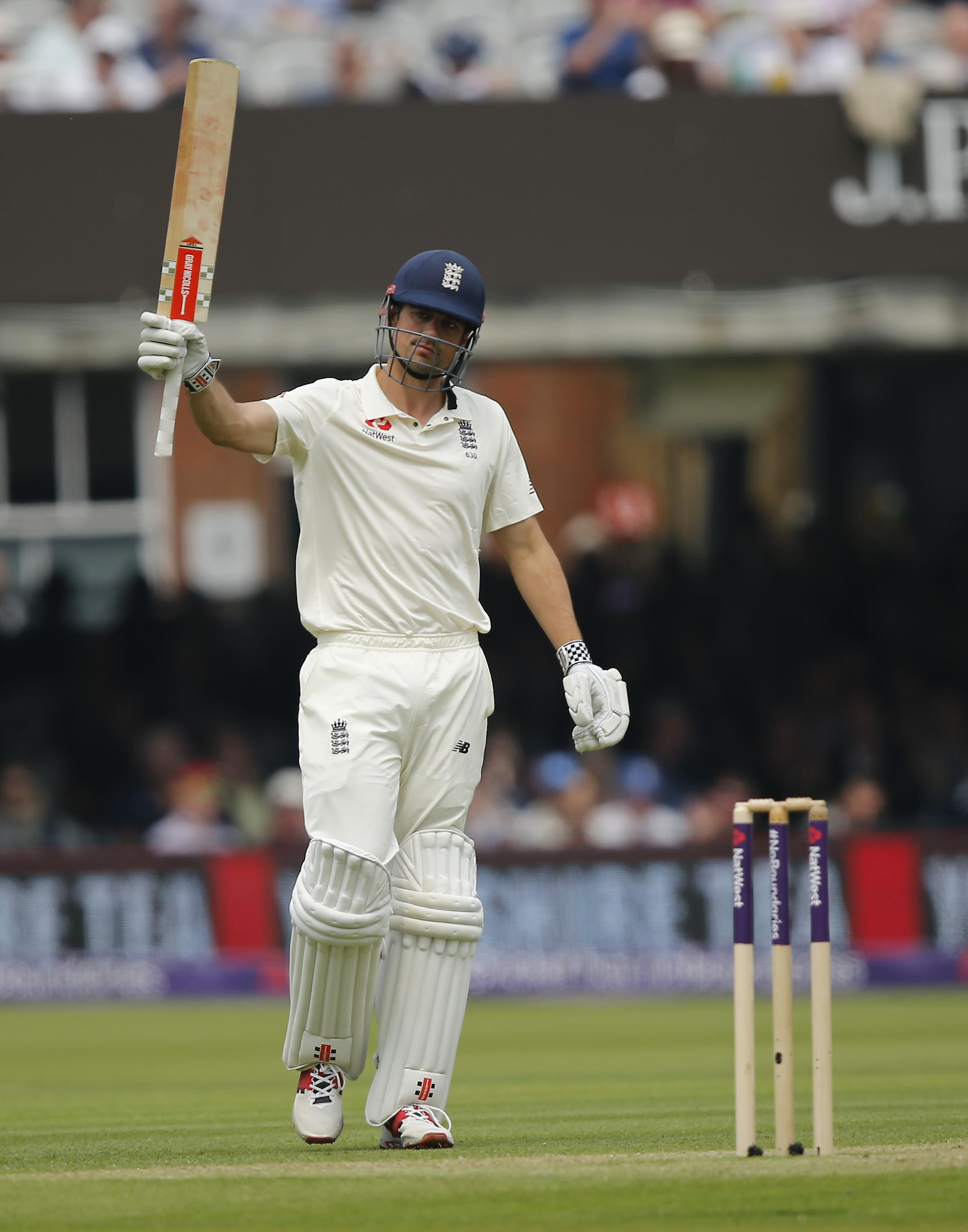 Alastair Cook offered resistance and top scored with 70