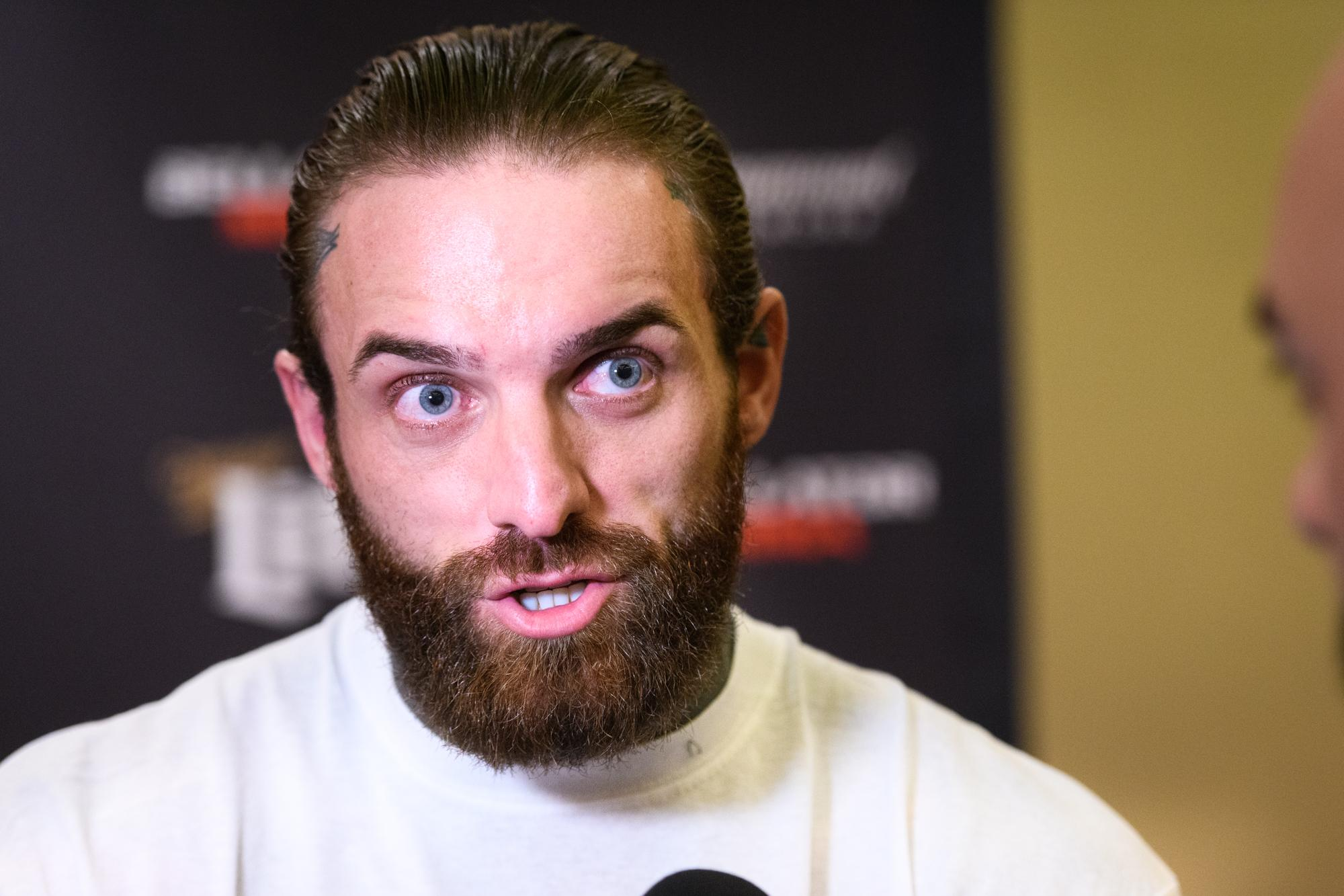 Aaron Chalmers admitted the nerves kicked in as soon as he was told he would be fighting on a Bellator card