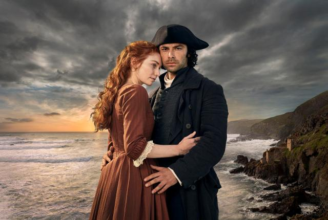 Eleanor Tomlinson and Aidan Turner play Demelza and Ross Poldark