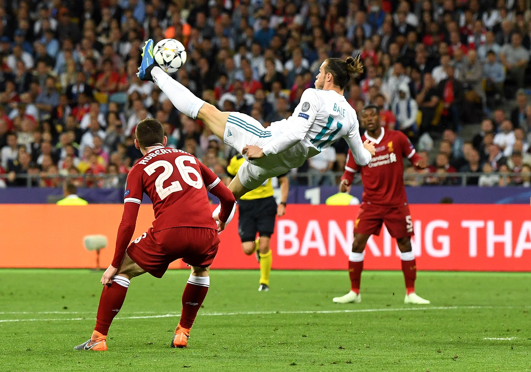 Gareth Bale scored twice in the Champions League final on Saturday, including this unbelievable strike