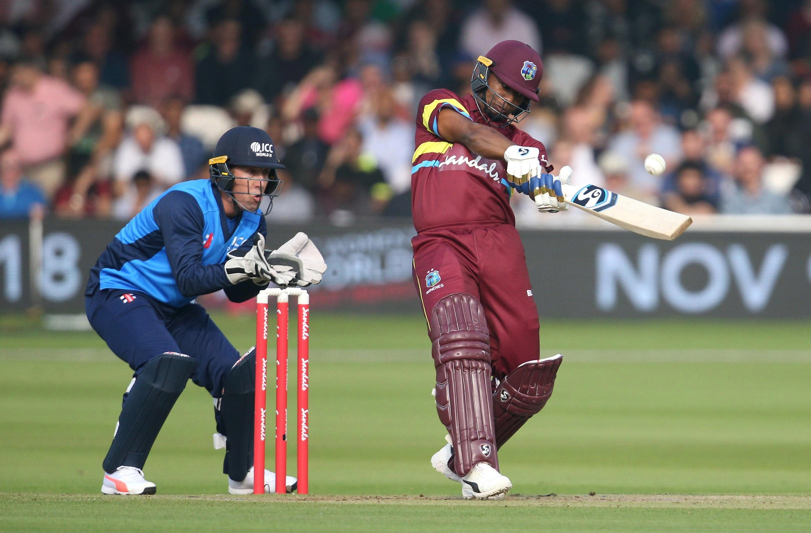 Evin Lewis smashed 59 to lift West Indies to 199-4