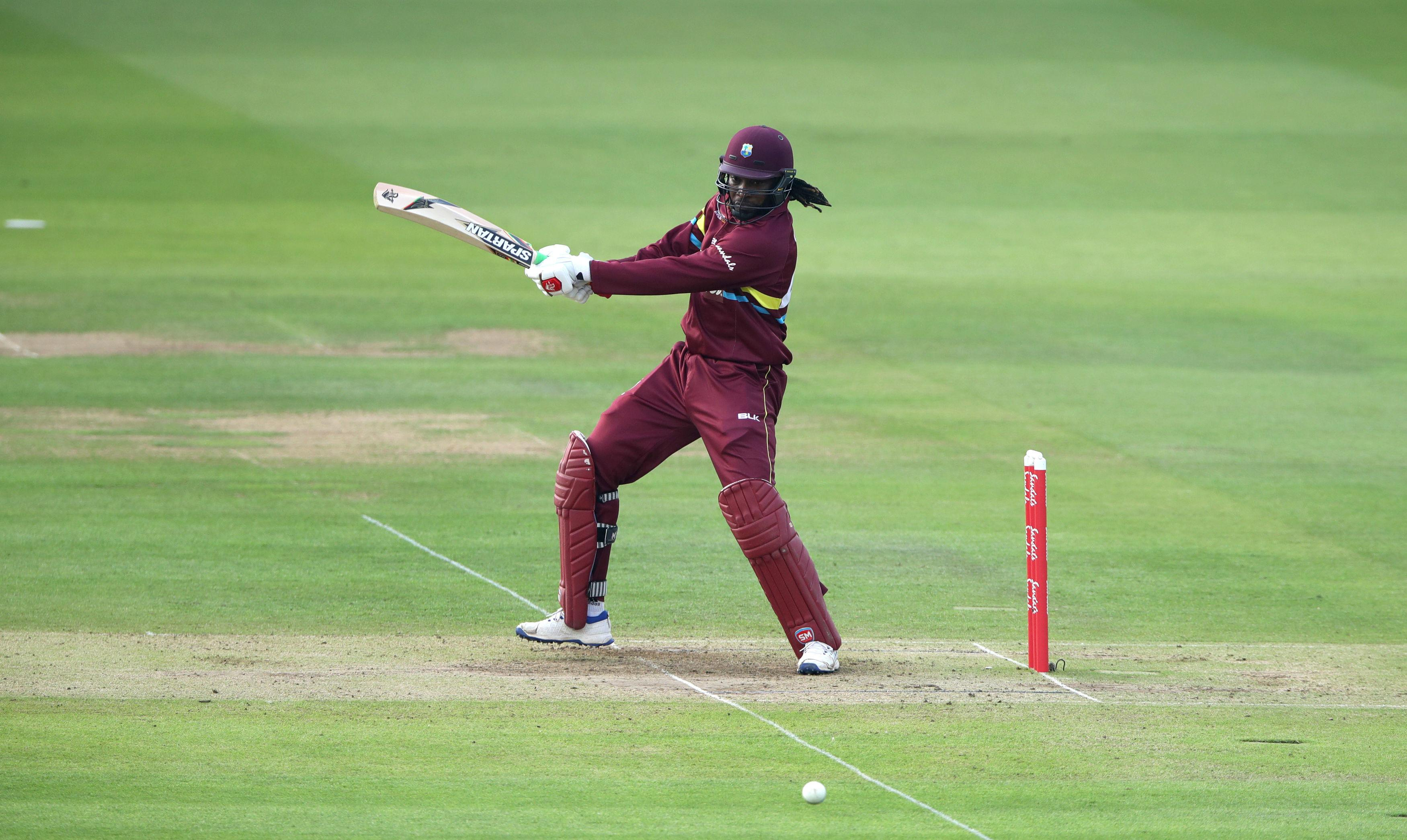 Chris Gayle was also in action for West Indies after travelling straight from the IPL