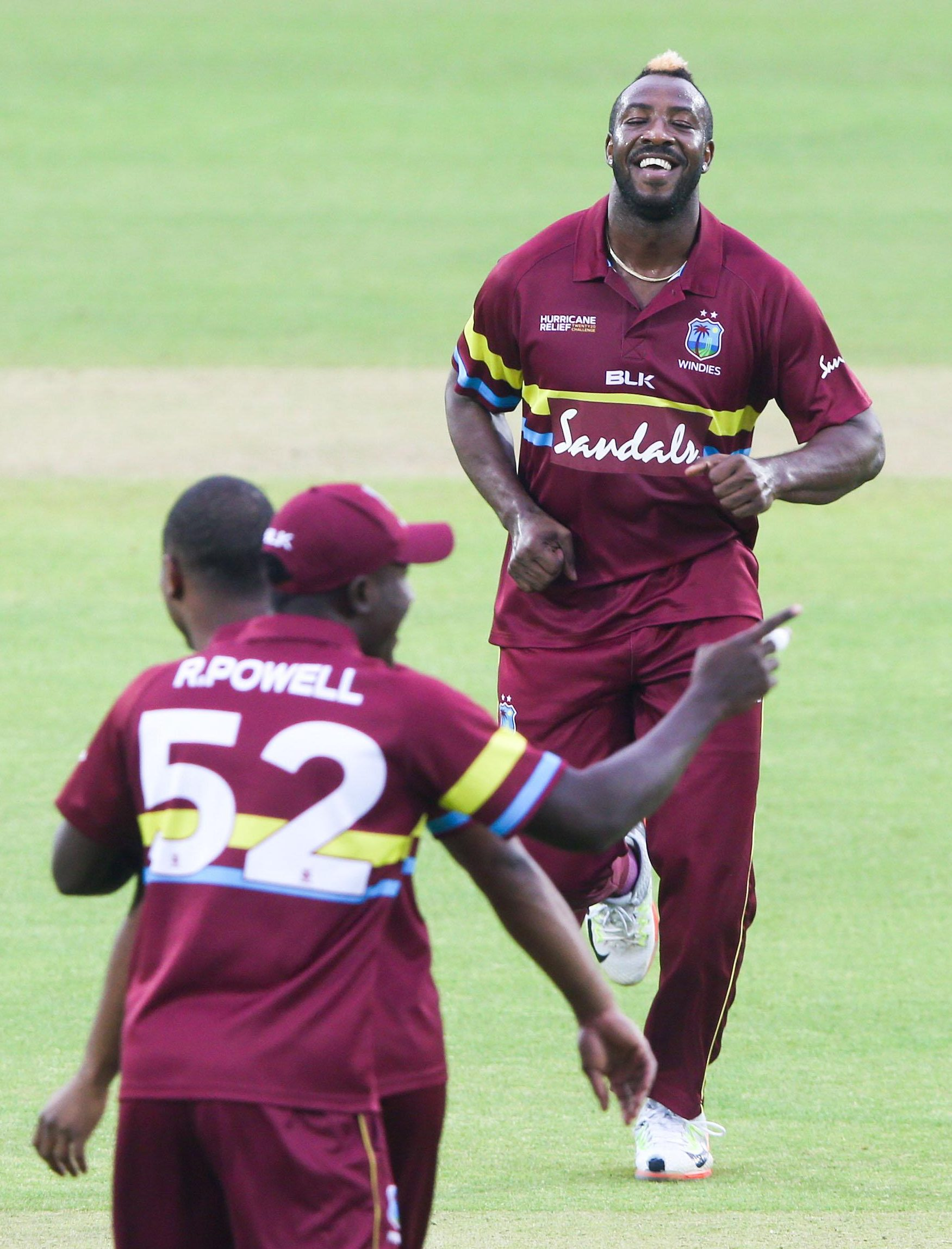 West Indies eased to victory in the hurricane relief challenge