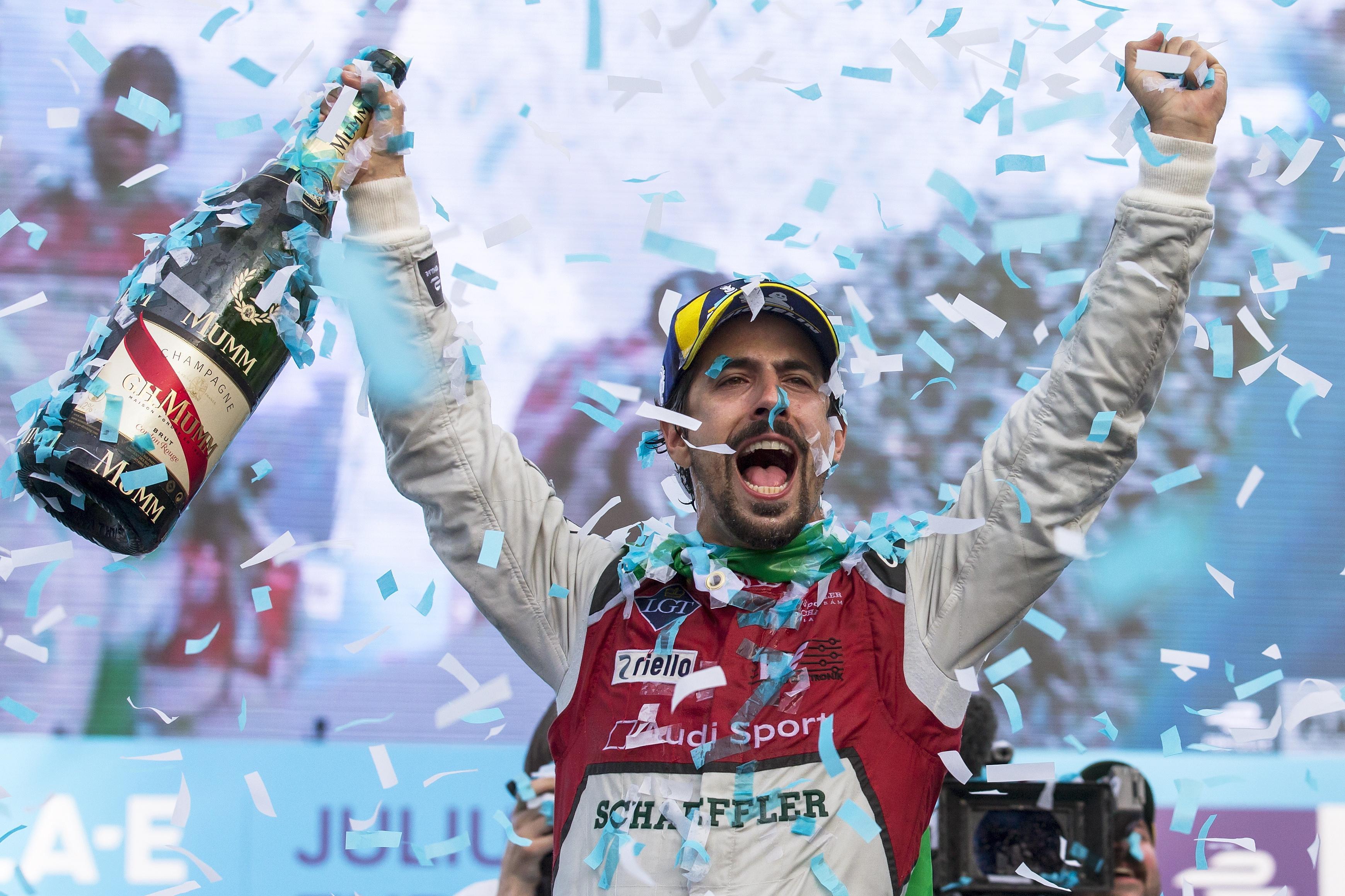 Former Formula E champion Lucas Di Grassi celebrated his first win of the season