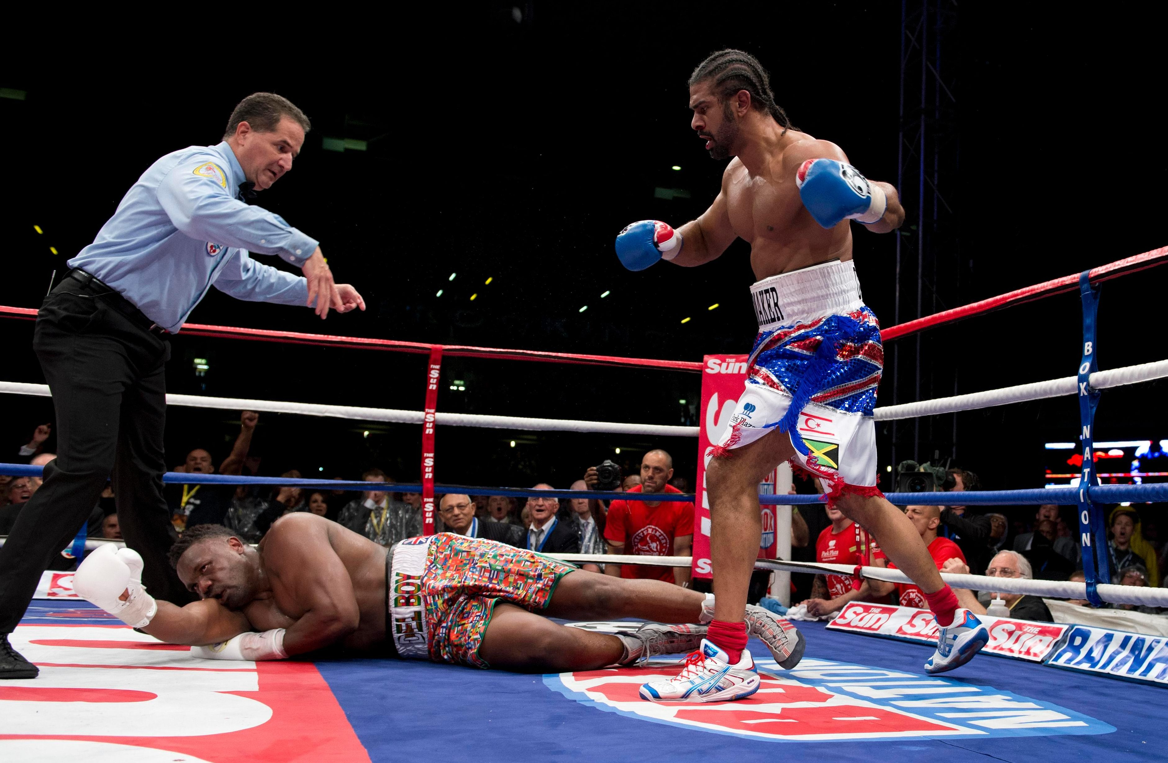 Haye stopped Chisora in the fifth round of their Upton Park bout in 2012
