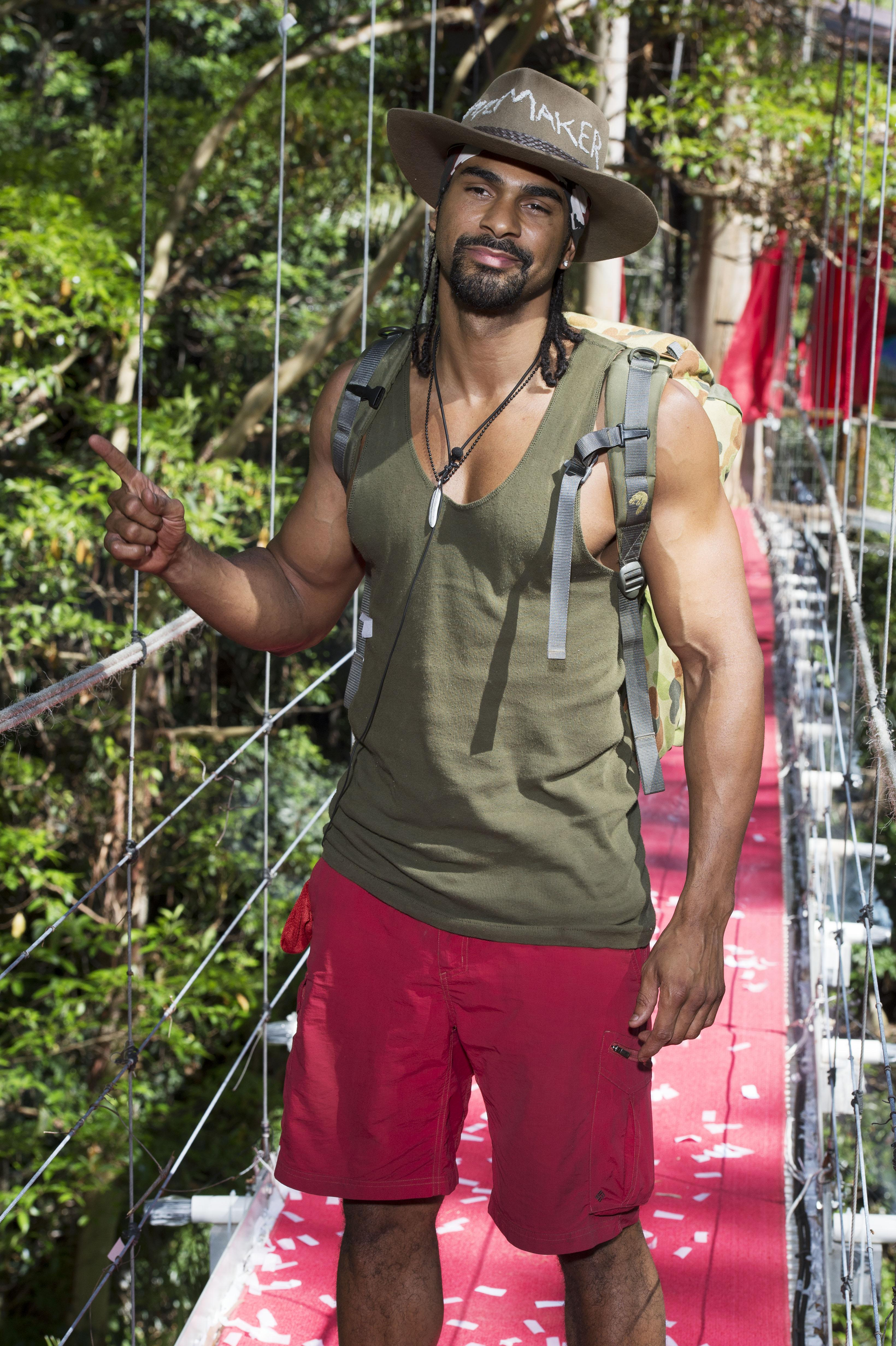 Haye swapped the ring for the jungle in 2012, finishing third in I'm A Celebrity
