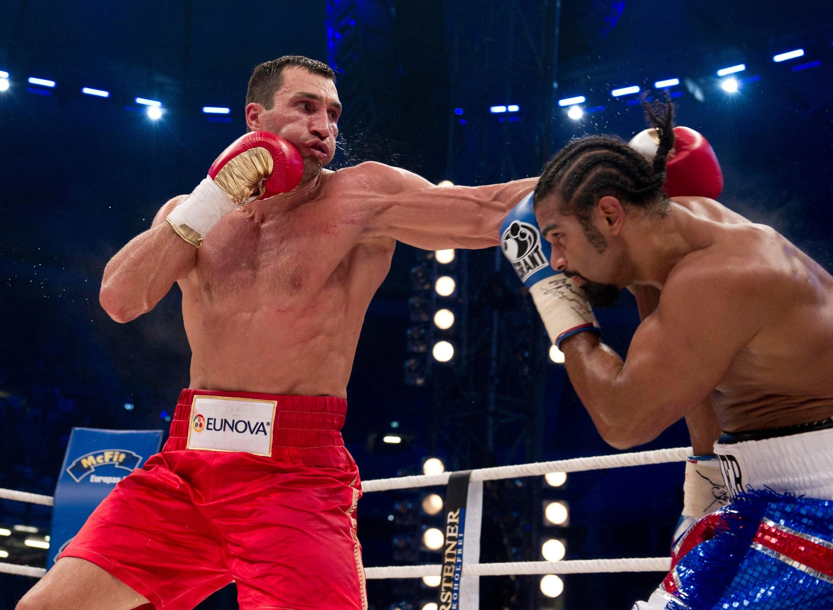Haye fought Wladimir Klitschko in Hamburg in 2011 in a world heavyweight unification bout, but lost to the Ukrainian on points