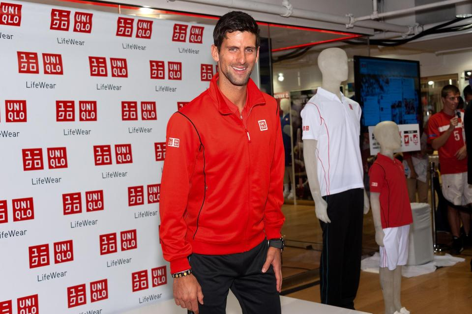 Novak Djokovic had a contract with Uniqlo from 2012 to 2017