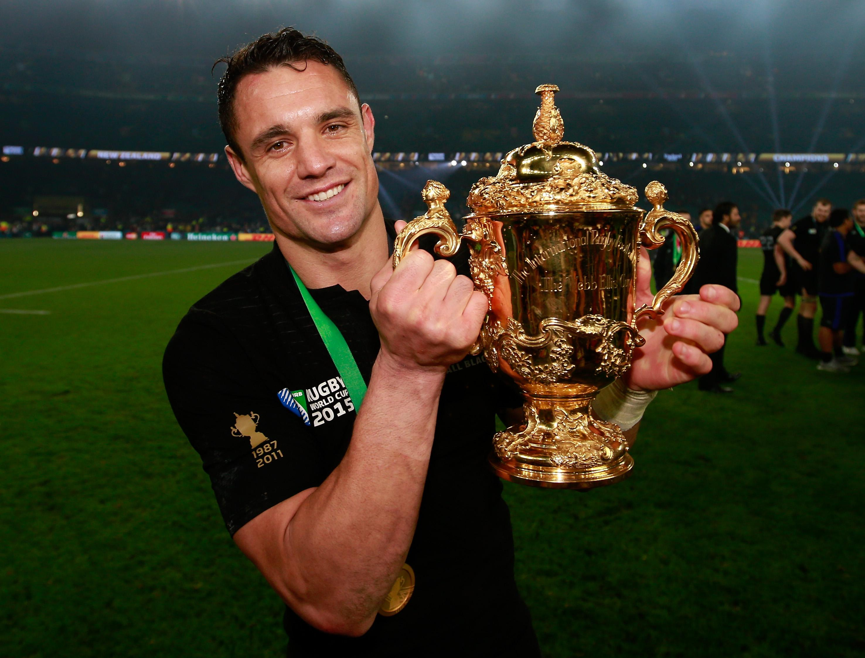 Dan Carter is two time World Cup champion and is set to appear in Soccer Aid