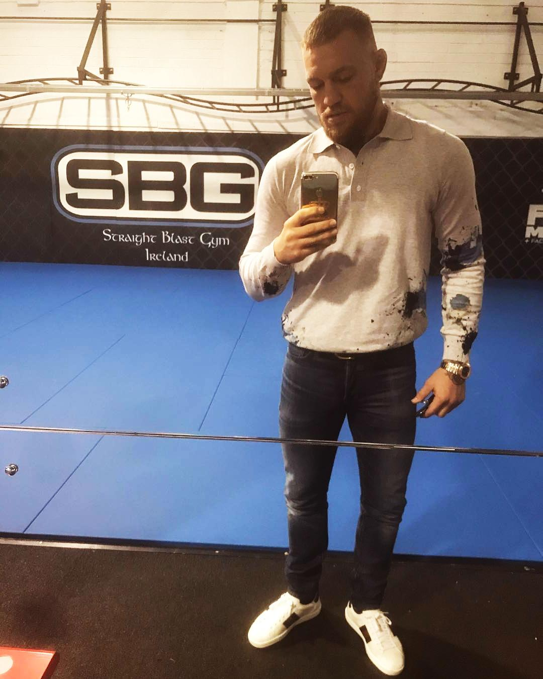 McGregor is a big fan of Gucci shoes and spends his millions on the designer