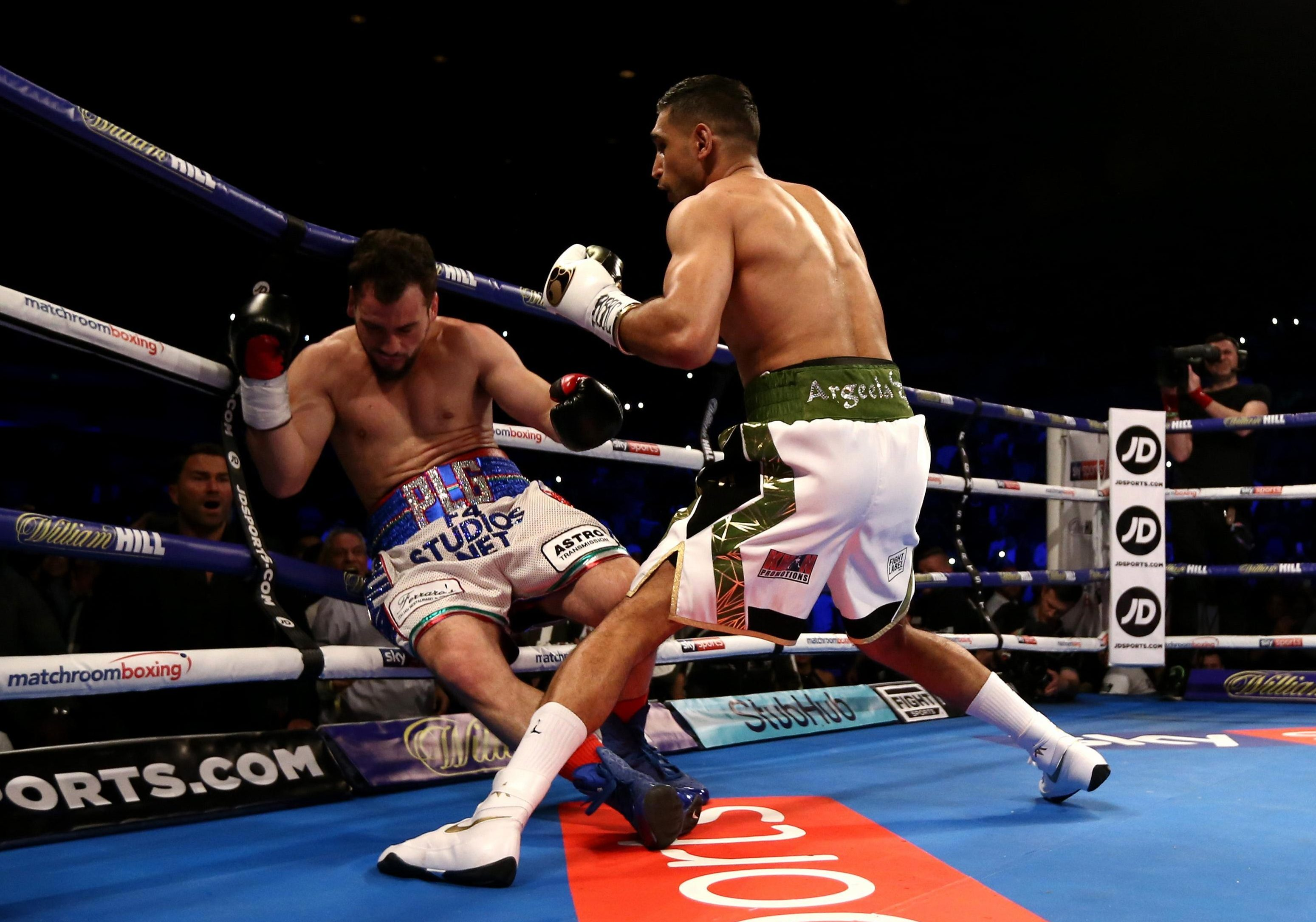 Amir Khan fought for the first time in two years in April - destroying Phil Lo Greco in 39 seconds