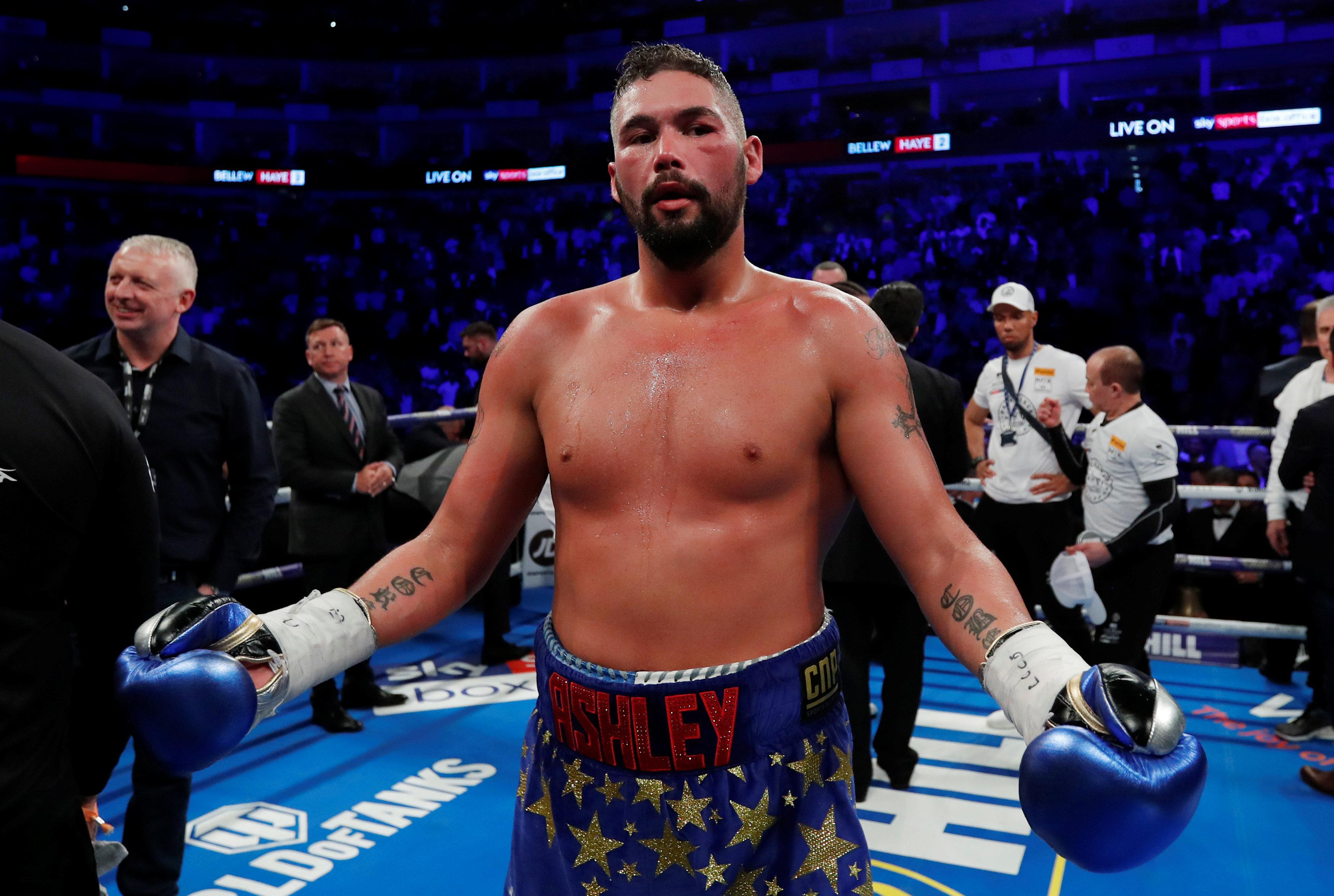 Tony Bellew reckons Tyson Fury is no match for him right now