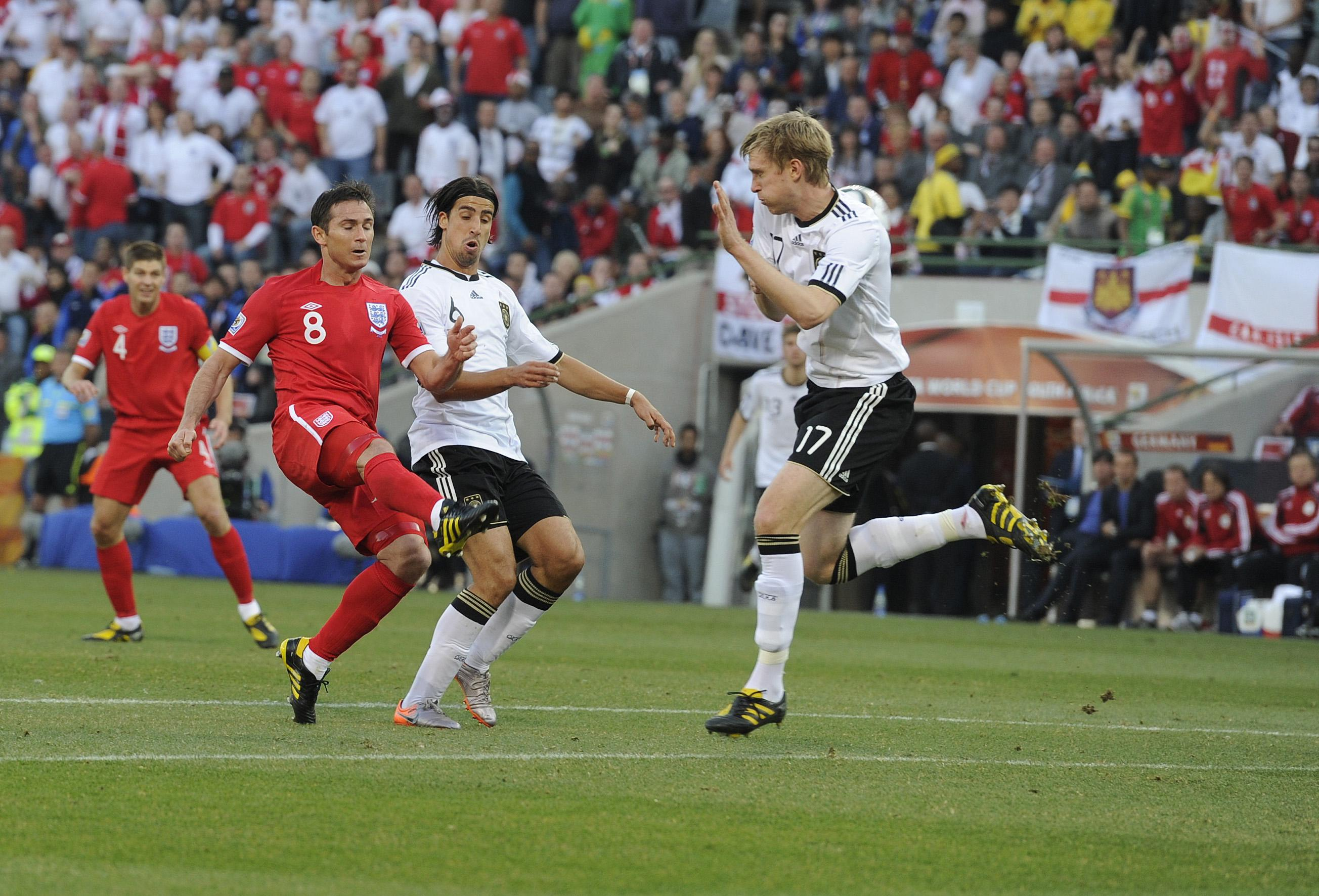 Back in 2010 against Germany Frank Lampard scored a beauty - but it never actually counted