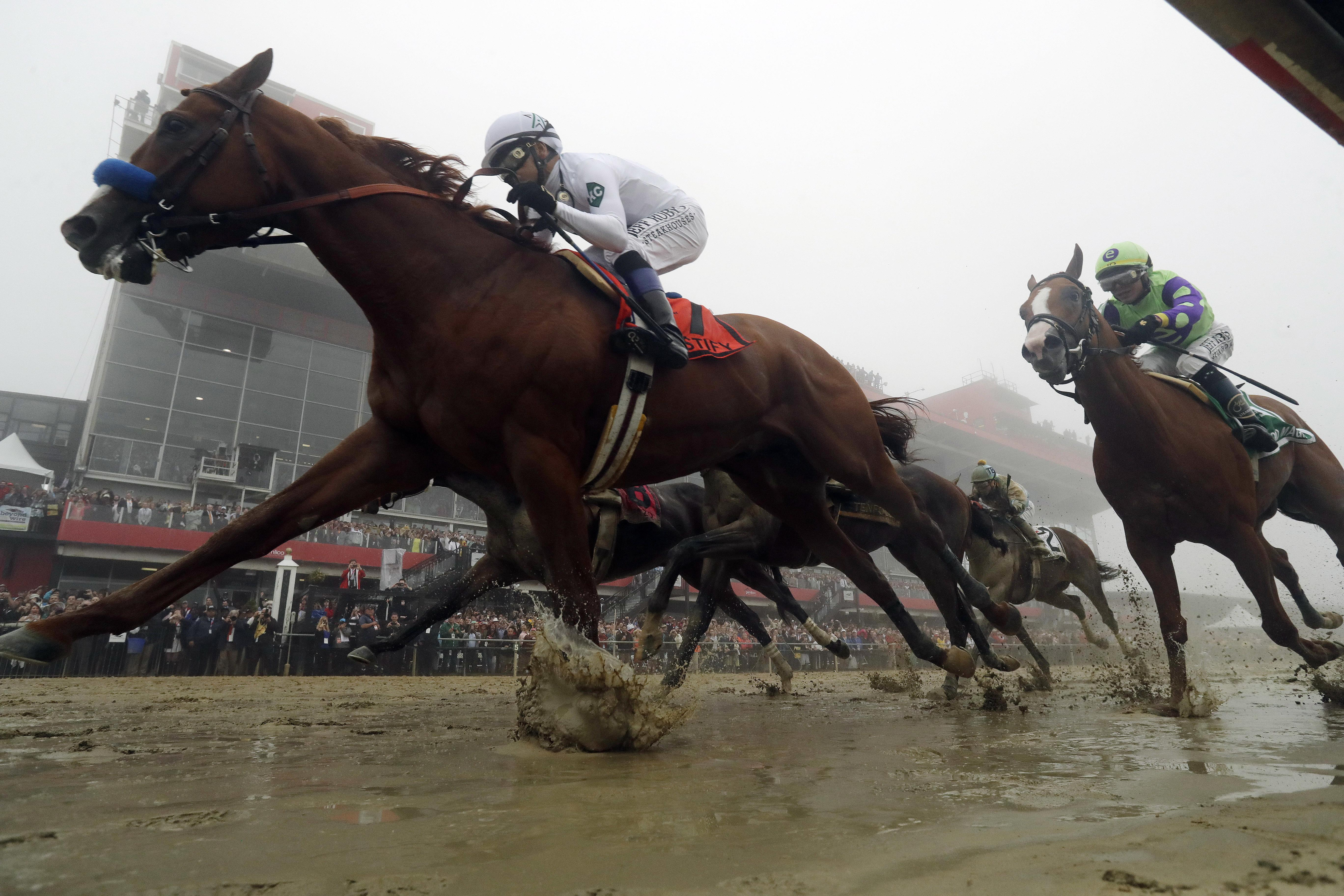 Justify won the Preakness at Pimlico last month to set up his Triple Crown bid