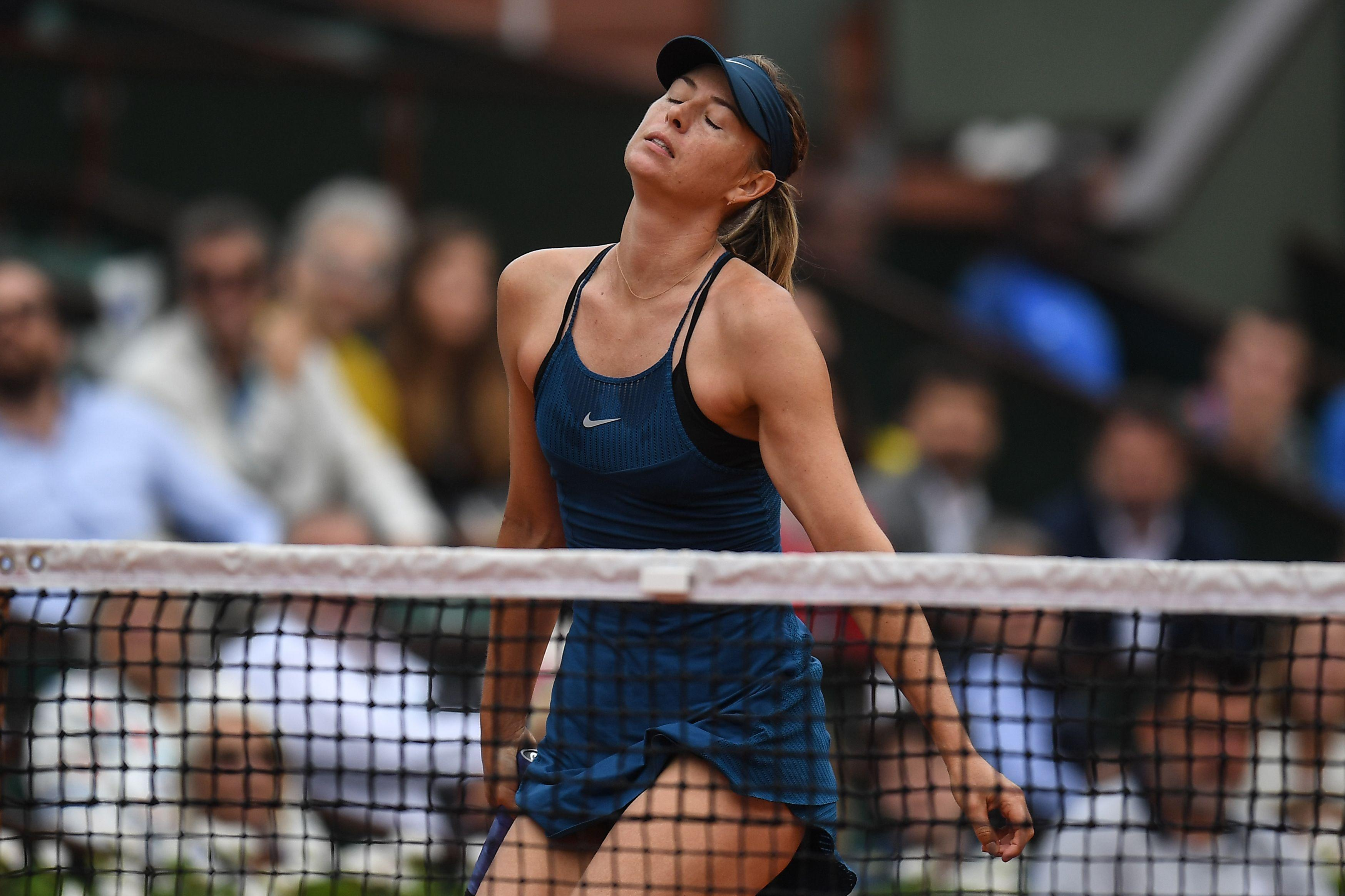 Two-time French open winner Sharapova managed to win only three games