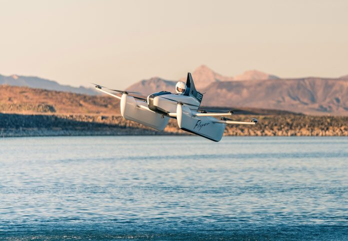 Google founder Larry Page has unveiled a new single-seater flying machine