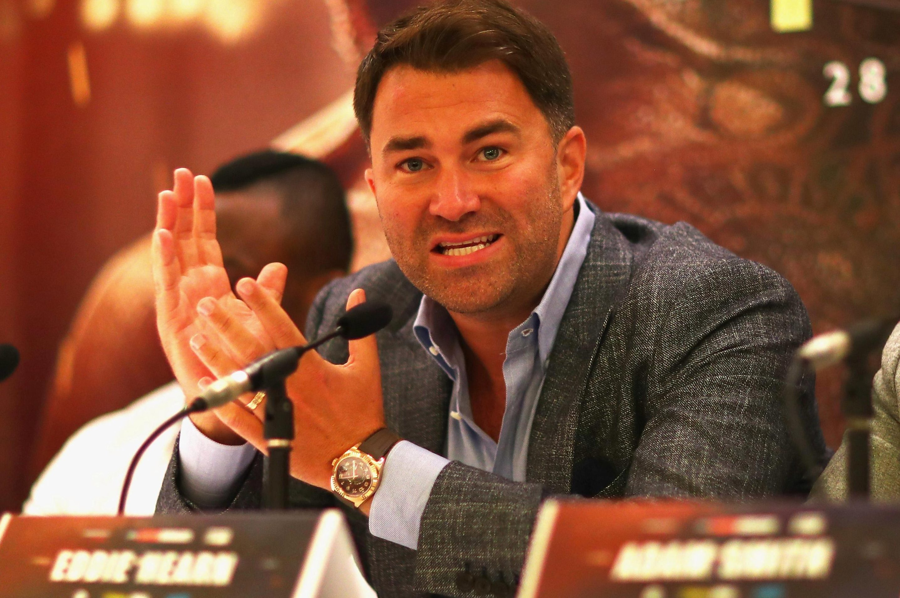 Eddie Hearn is concerned that Deontay Wilder has jumped the gun with negotiations for a mandatory challenger underway