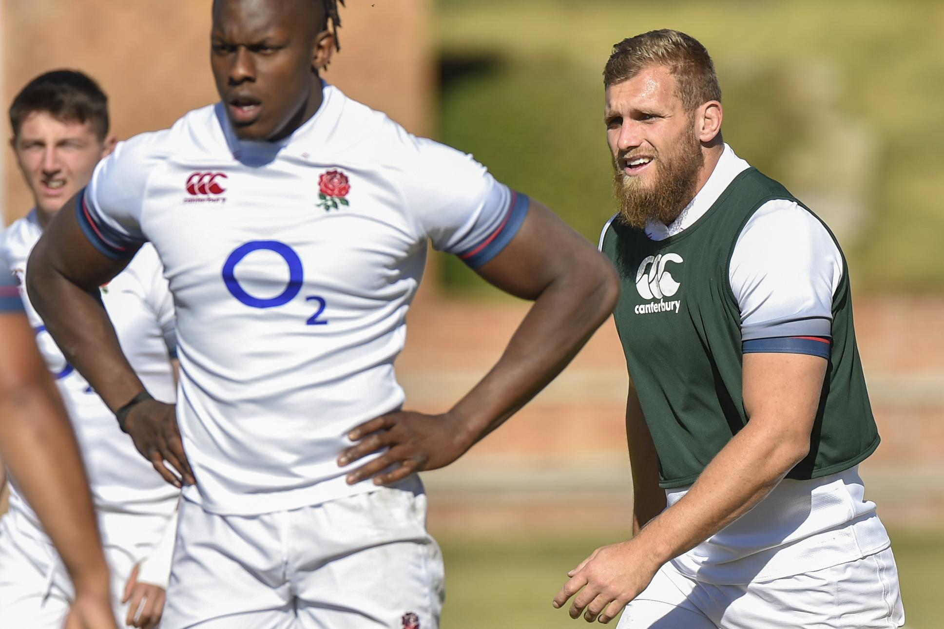 Kiwi Shields (right), will make his England debut in this new-look side for the Second Test against South Africa
