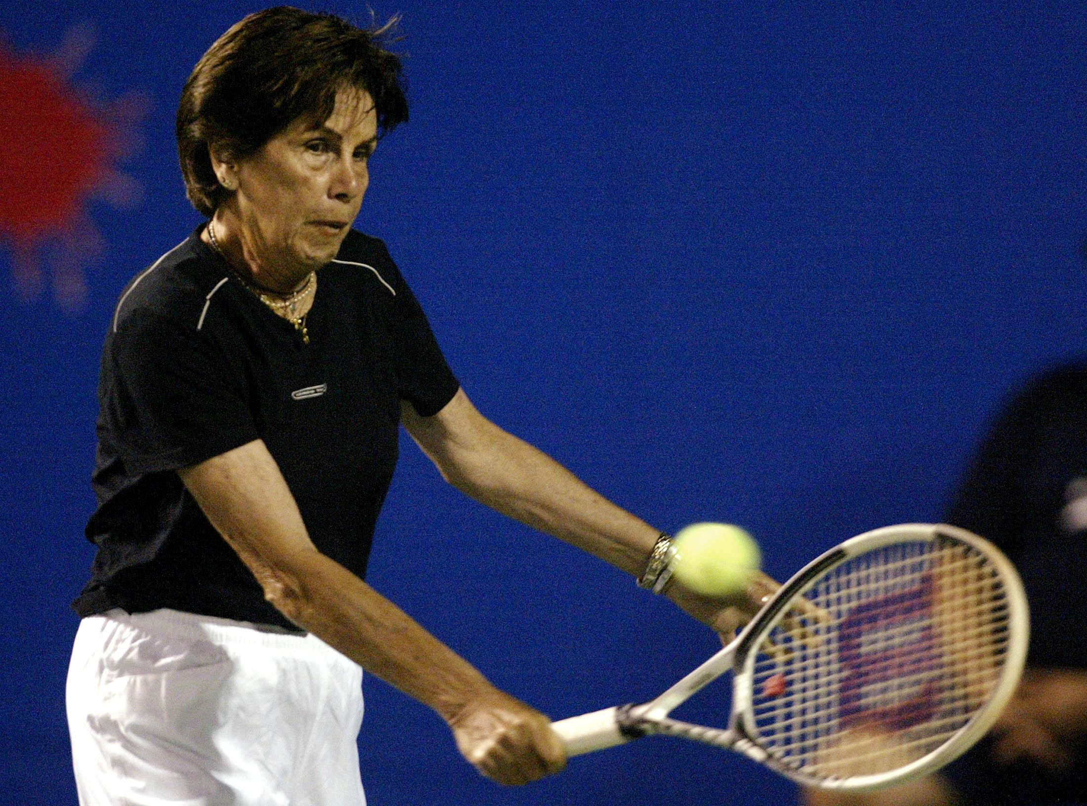 Bueno was a national hero in Brazil and continued to play exhibition matches well into her retirement