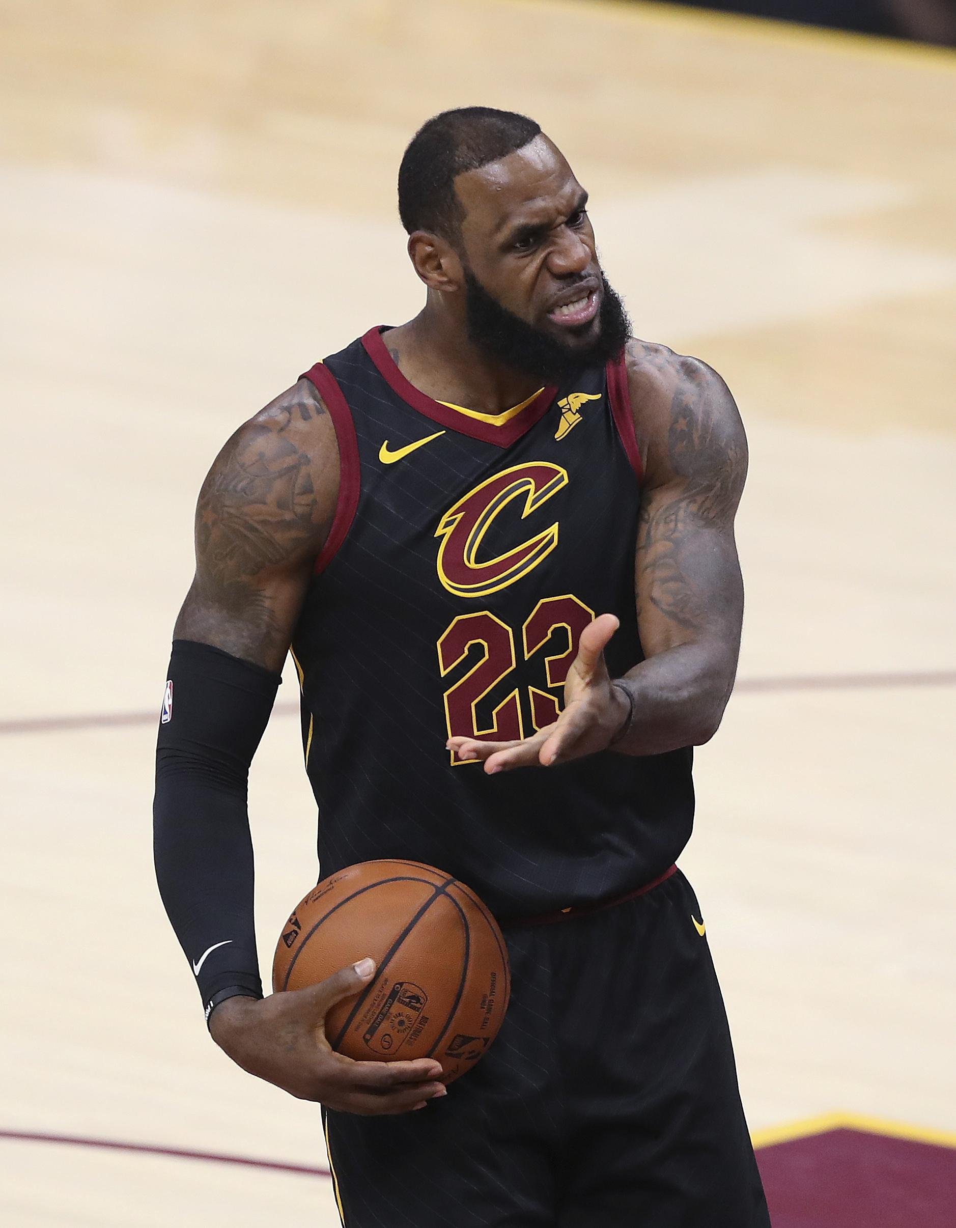 LeBron James admitted frustrations had got the better of him at the end of game one