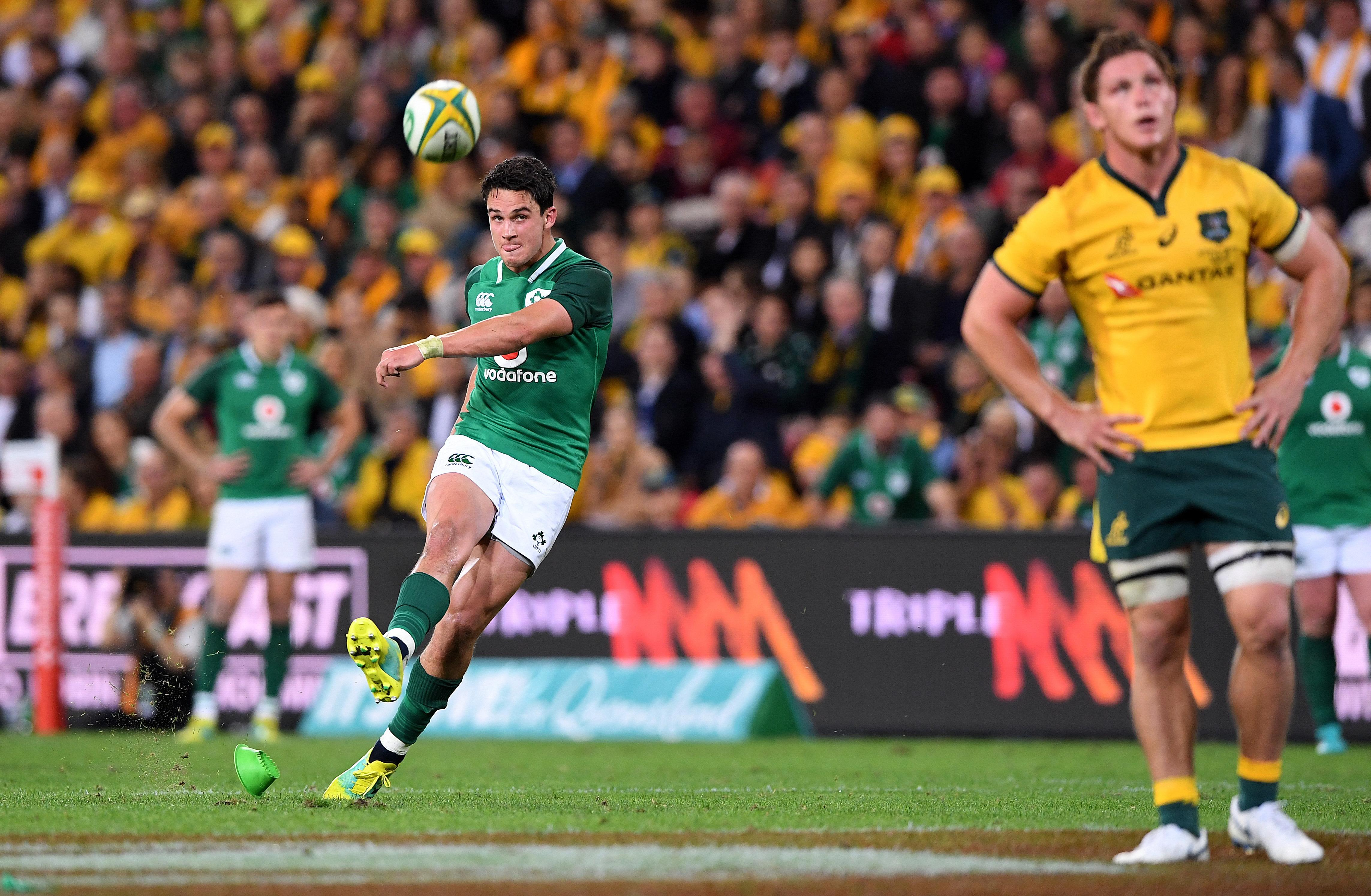 Joey Carbery kicked Ireland's points but he could not fire them to a win against Australia