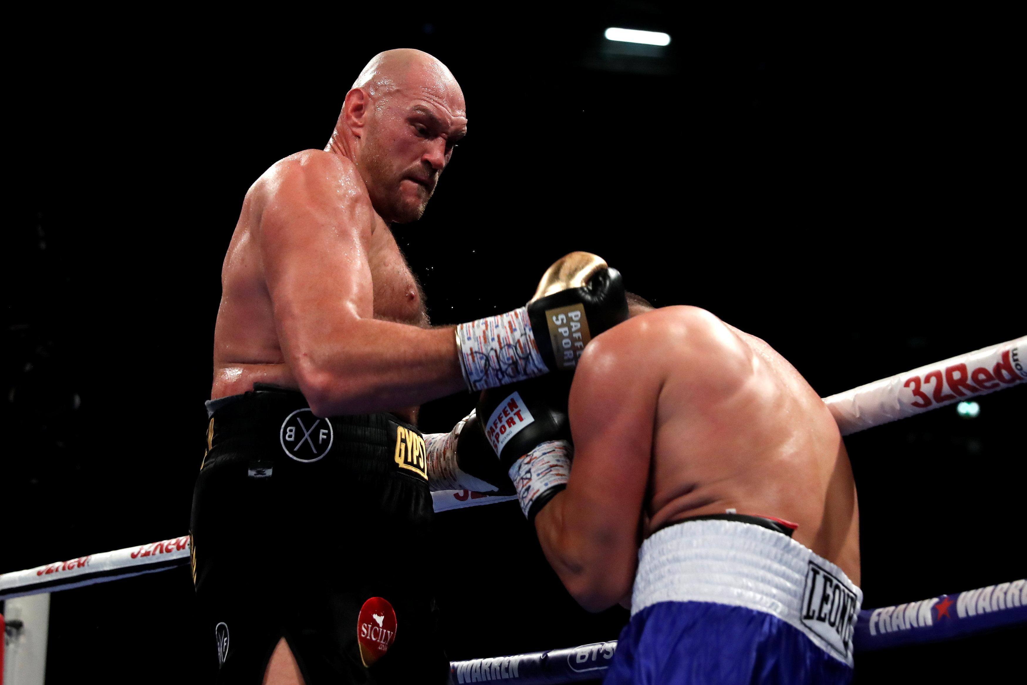 Tyson Fury was fighting for the first time in nearly three years