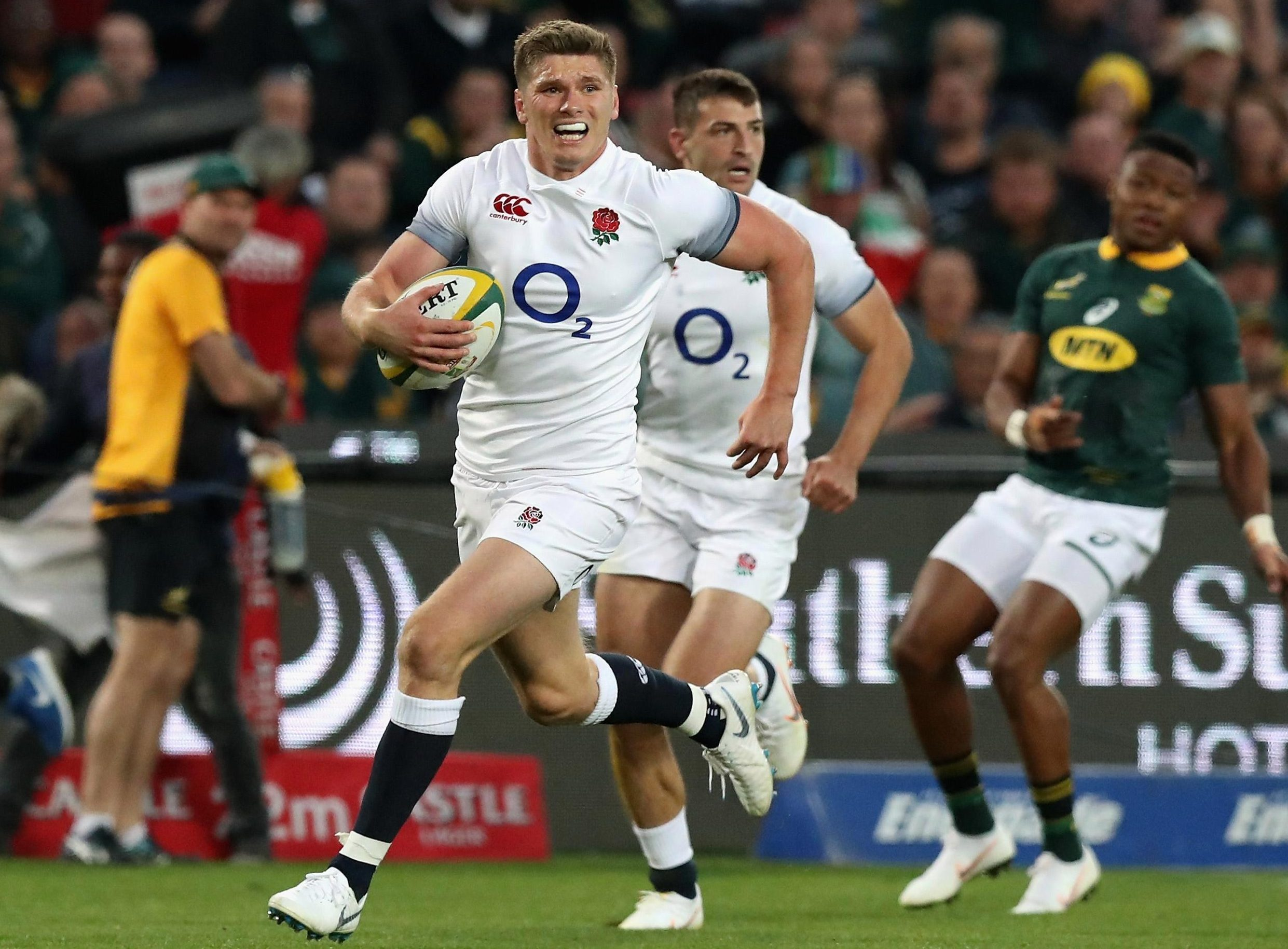 Owen Farrell may have scored a try during the first test match, along with Mike Brown, but their side then fell apart in disastrous fashion
