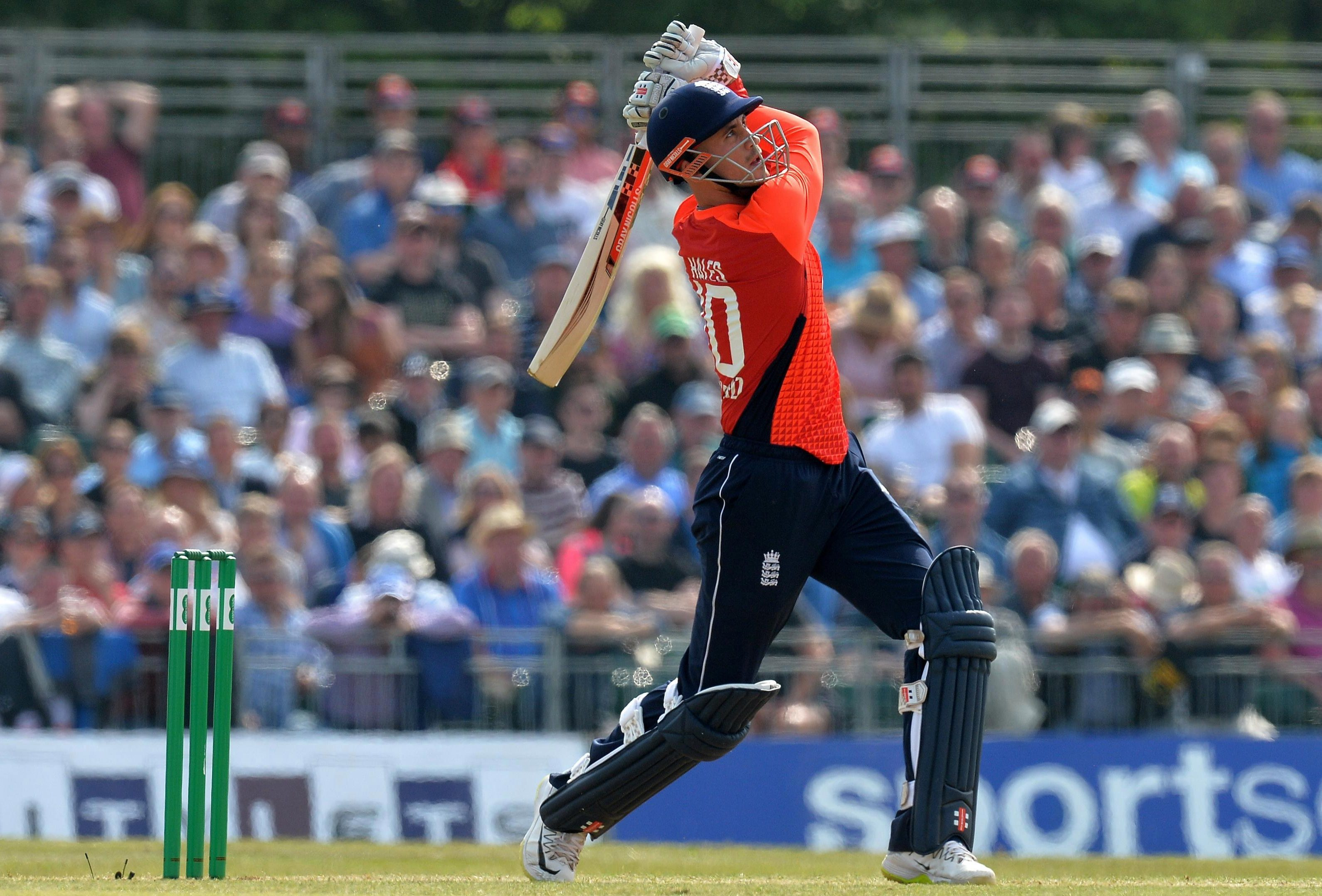 Alex Hales of England batting during the One Day International match