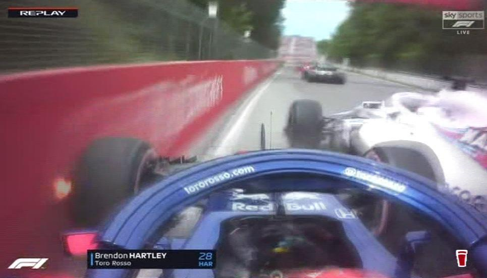 The Toro Rosso racer was going round the outside of Lance Stroll