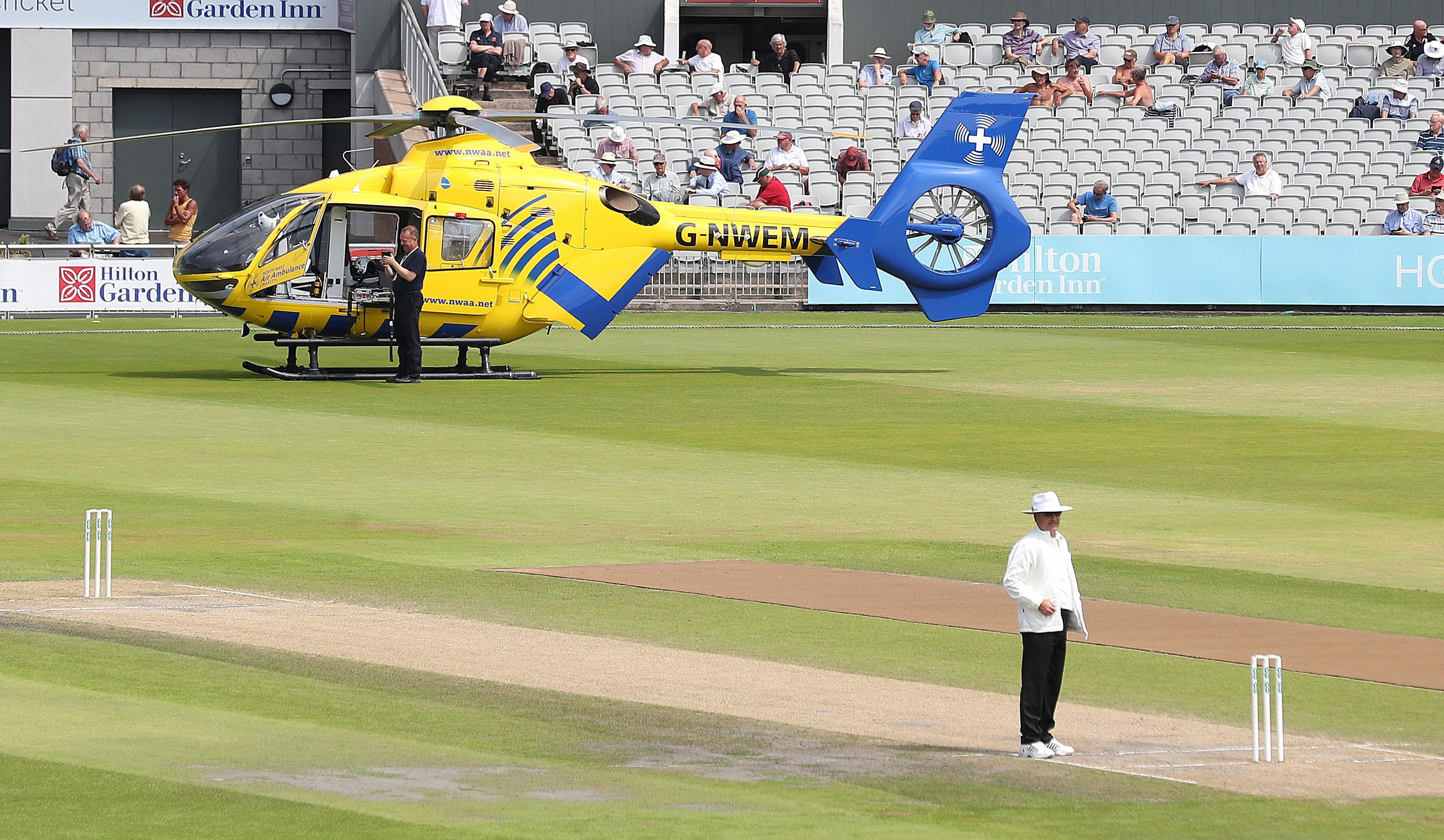 Play between Lancashire and Essex has been suspended