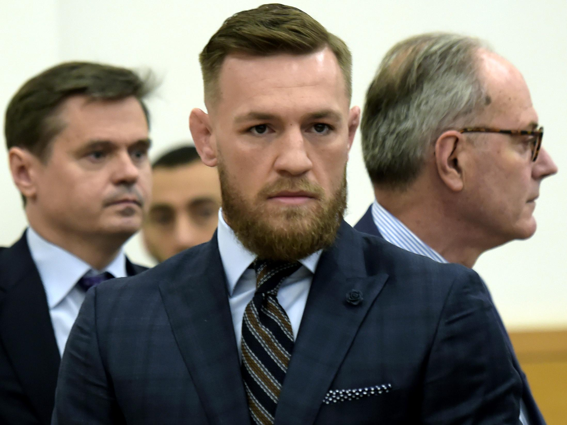 Conor McGregor appeared at Brooklyn Criminal Court last week over an attack on a UFC bus
