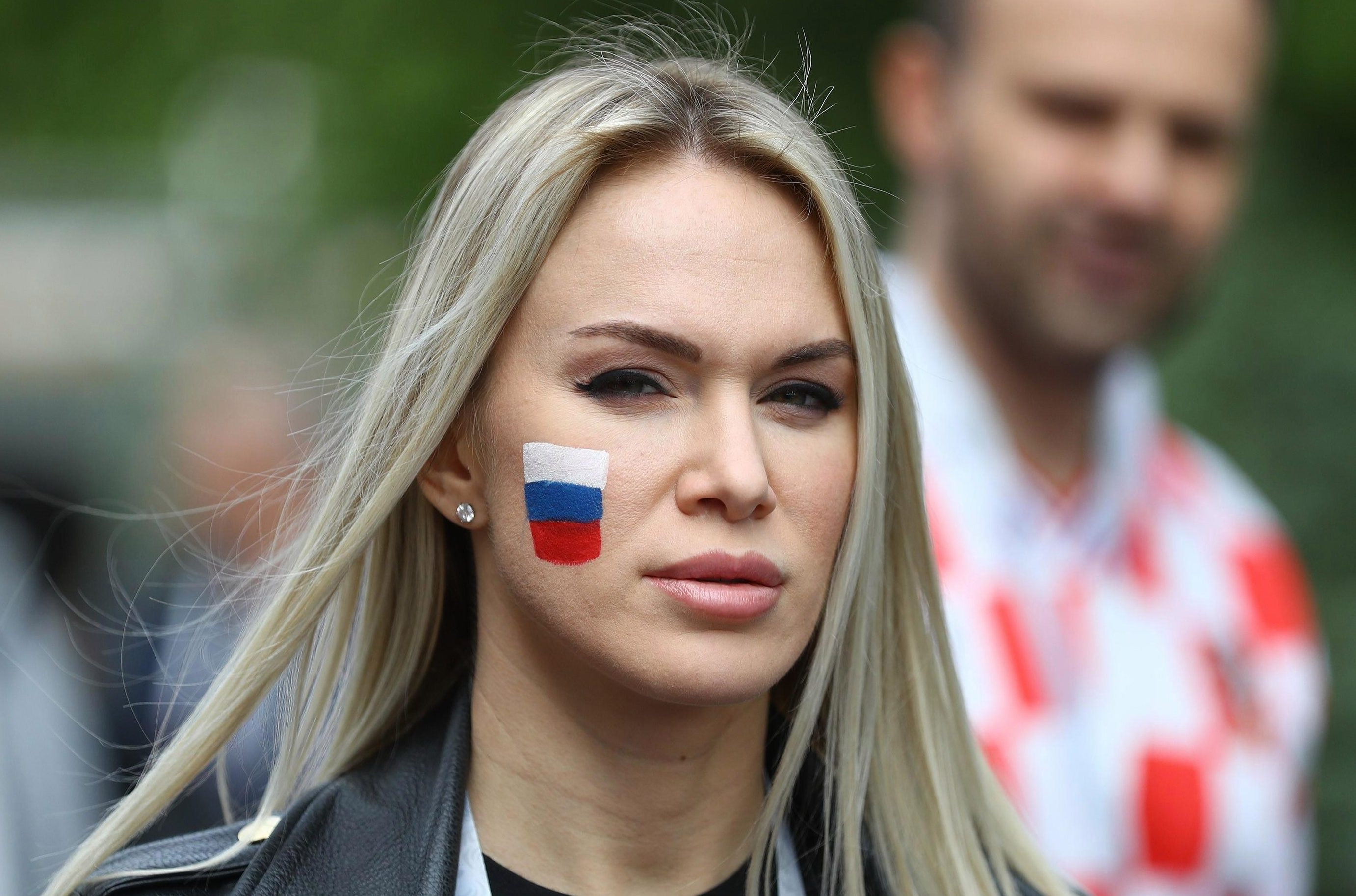 Fans used face paint to show their support for their team in Russia