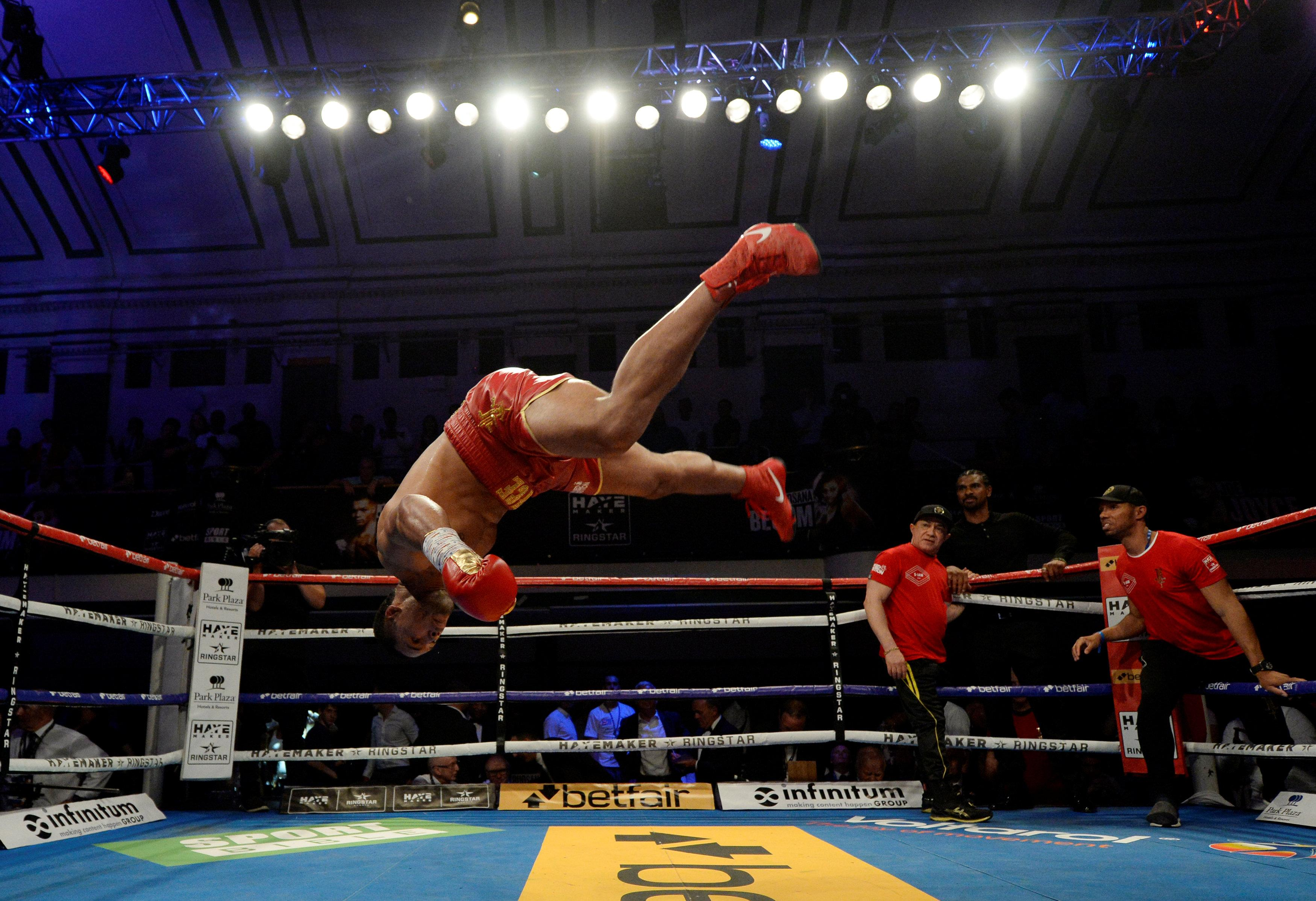 Commonwealth champion Joyce has great moves for a big man