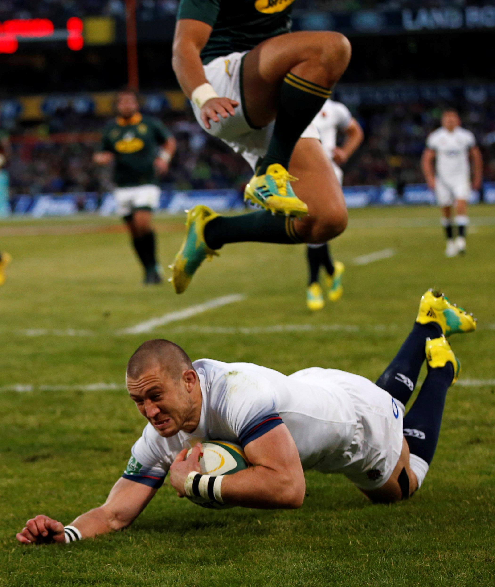 Brown confronted an England supporter after the second Test defeat against the Springboks on Saturday
