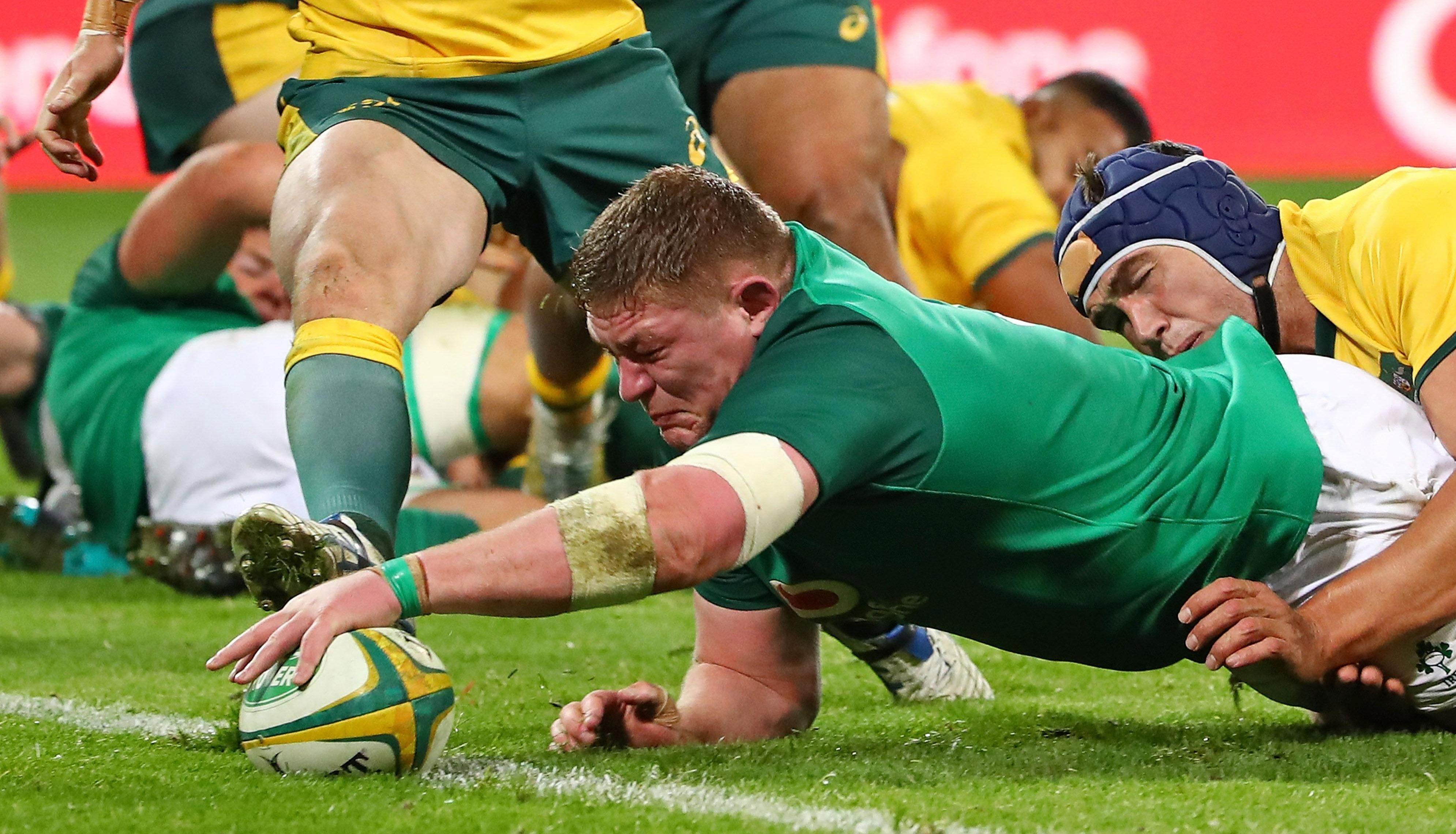 Tadhg Furlong touches down in Melbourne last weekend