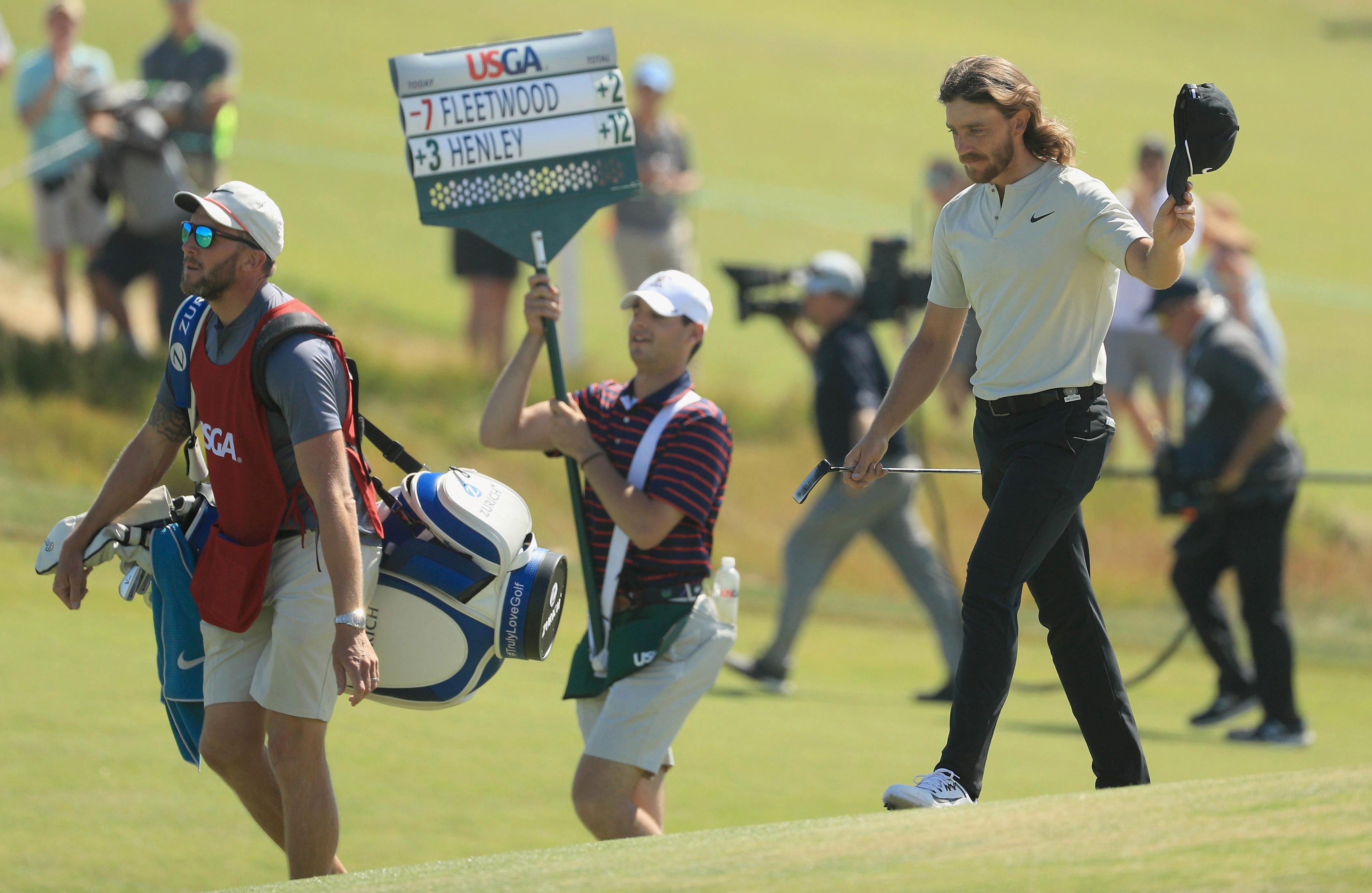 Tommy Fleetwood hit a 63 on Sunday but finished one shot back