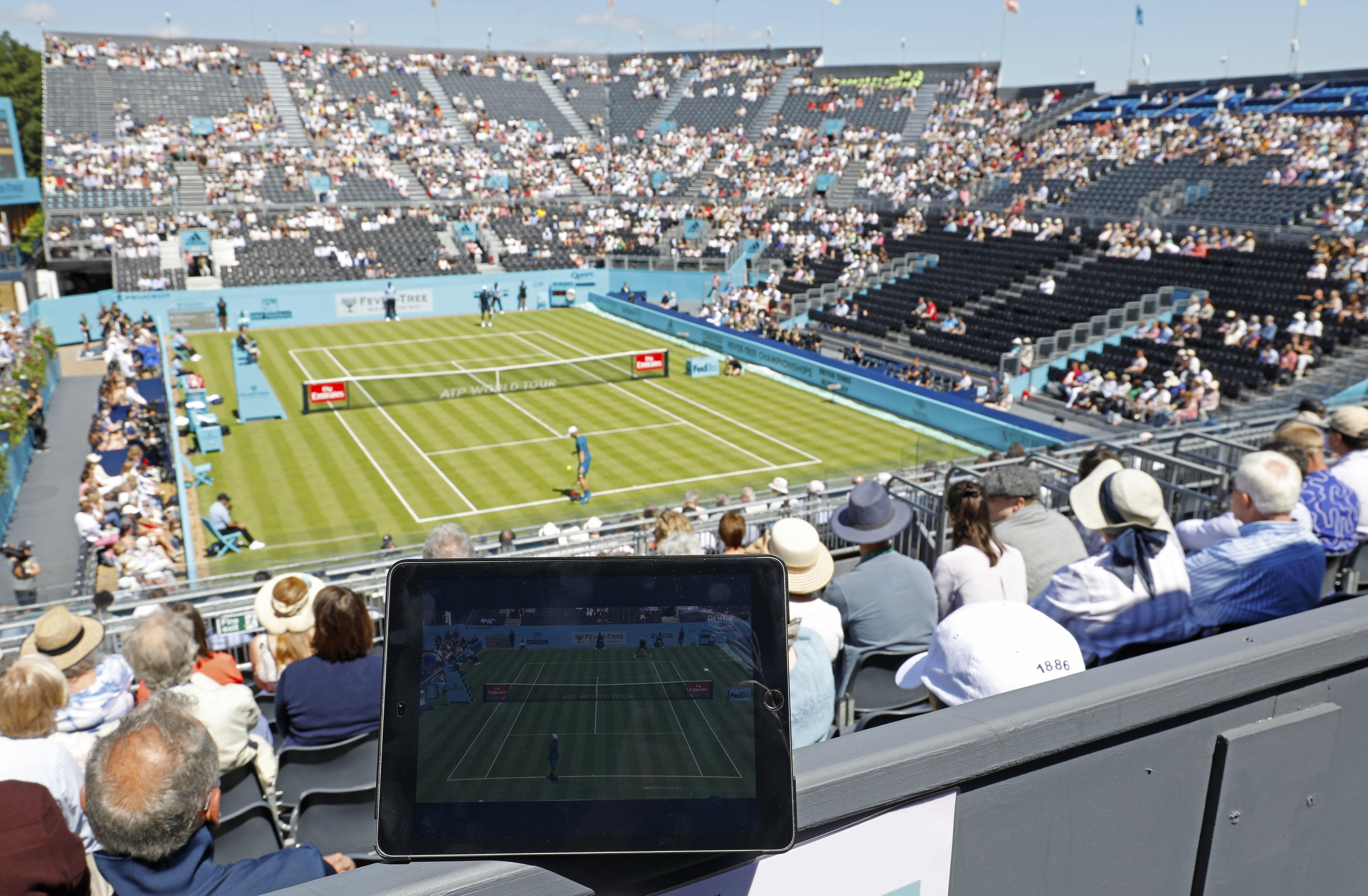 Amazon Prime showed tennis on its video service for the first time at the Queen's Club Championships